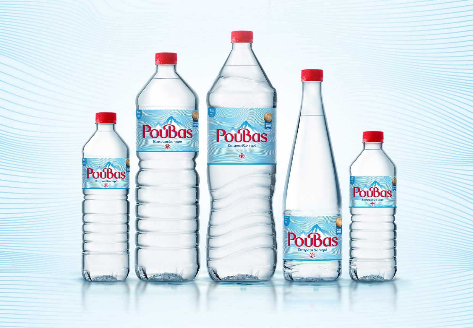 Brand Identity and Packaging Design for Table Water from Crete, Greece