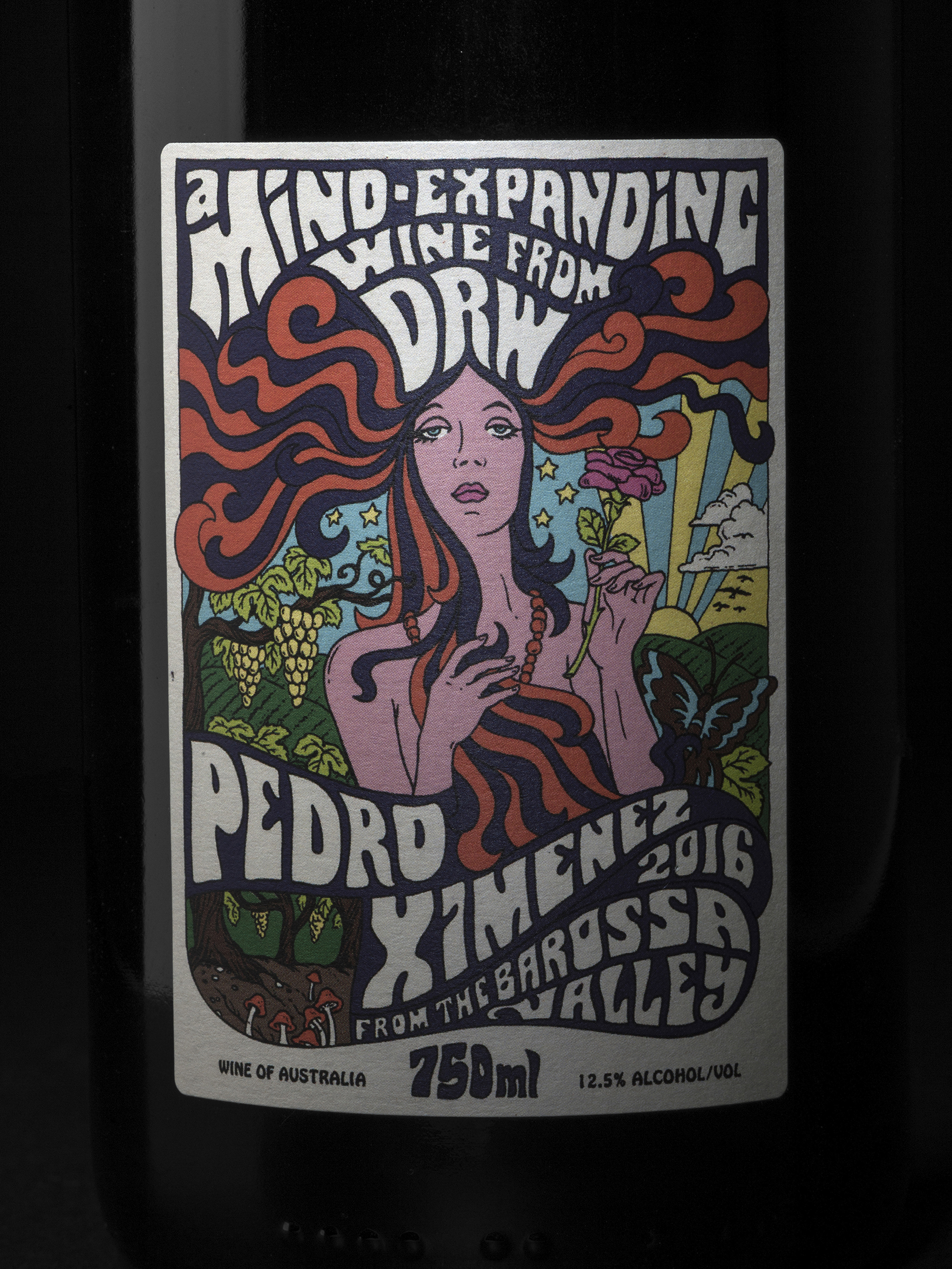 A Psychedelic Wine Label for a Boutique Wine Producer in South Australia