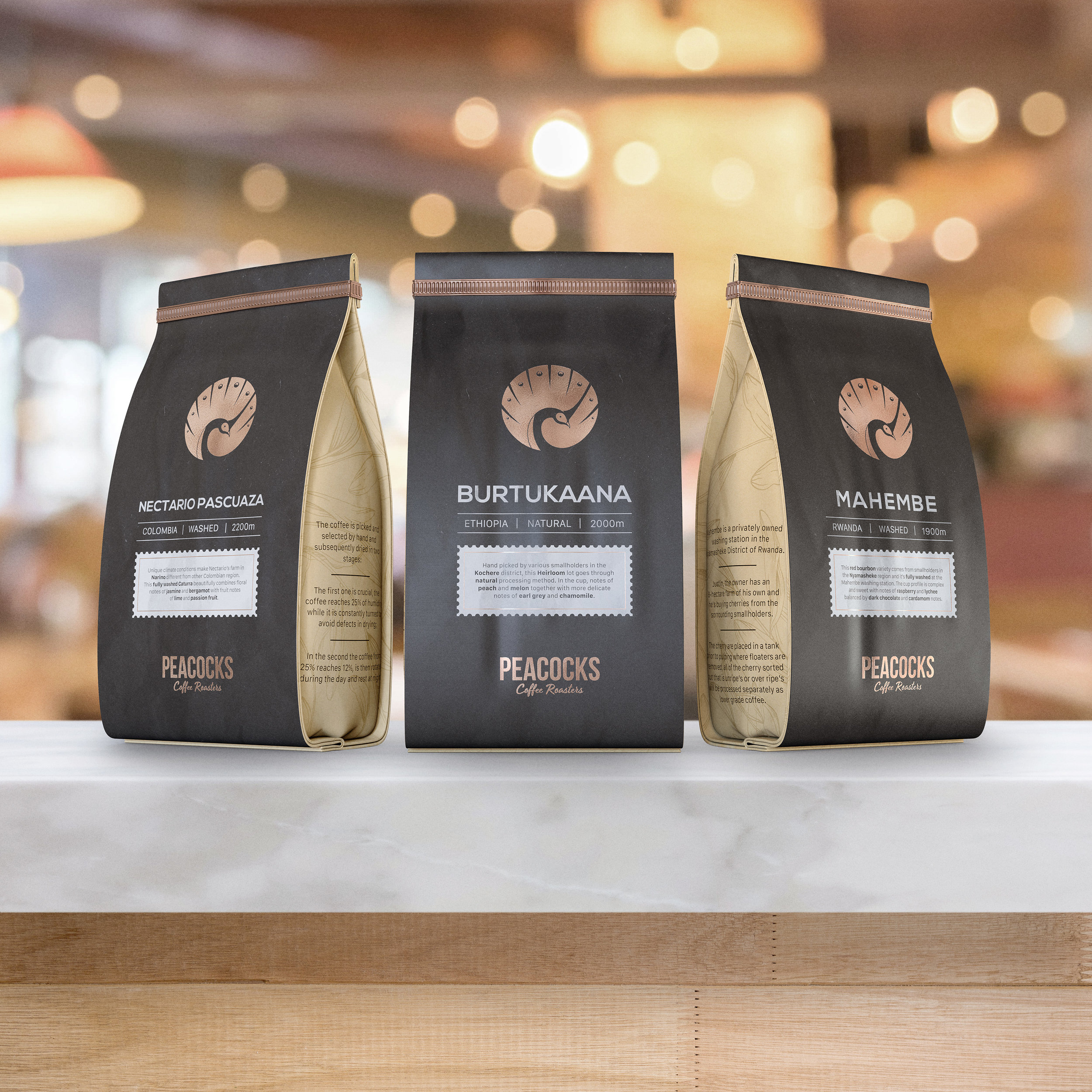 Elegant, Modern and Minimalist New Packaging Design for Coffee Roasters in Monza, Italy