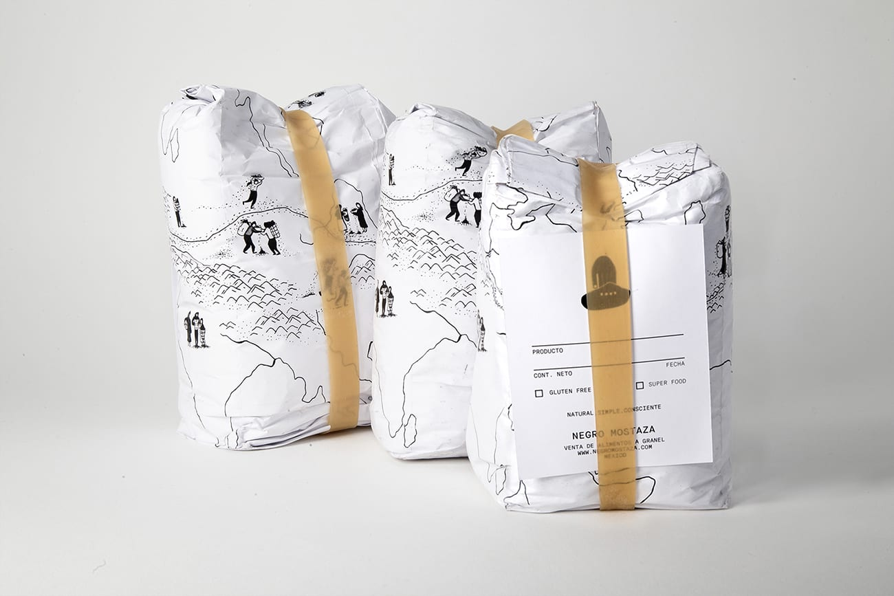 Branding and Packaging Design; Elemental, Reusable and Zero Waste for Negro Mostaza.