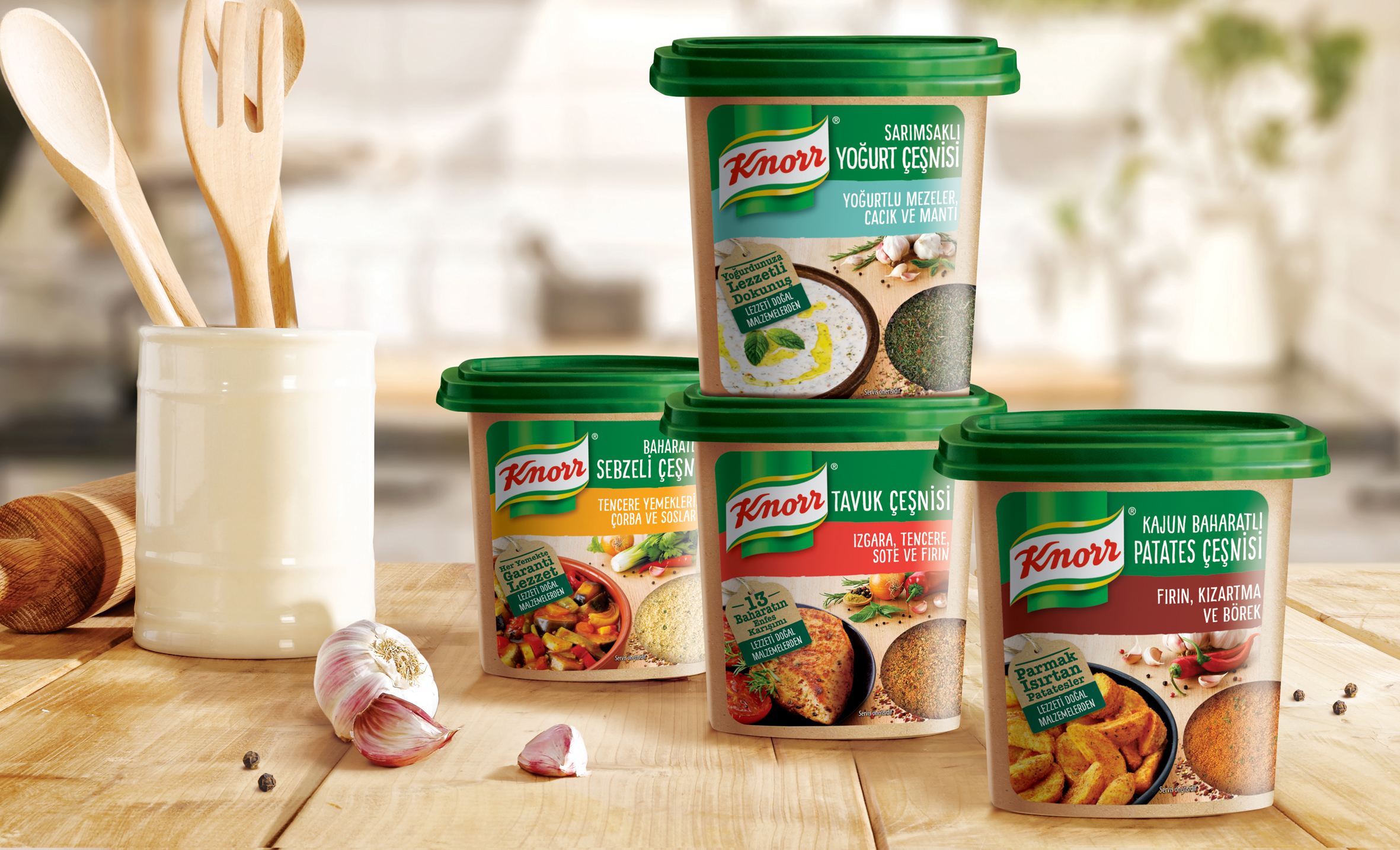 New Packaging Design for Knorr Seasoning Series in the Turkish Market