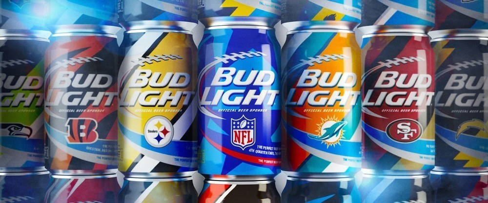 Pearlfisher – Bud Light NFL Cans