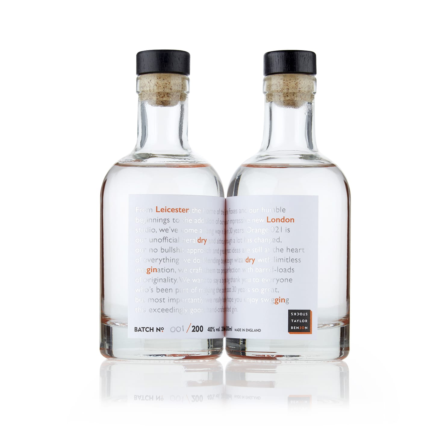 Mixing It Up Since 1988, OriGINality and ImaGINation Gin Packaging