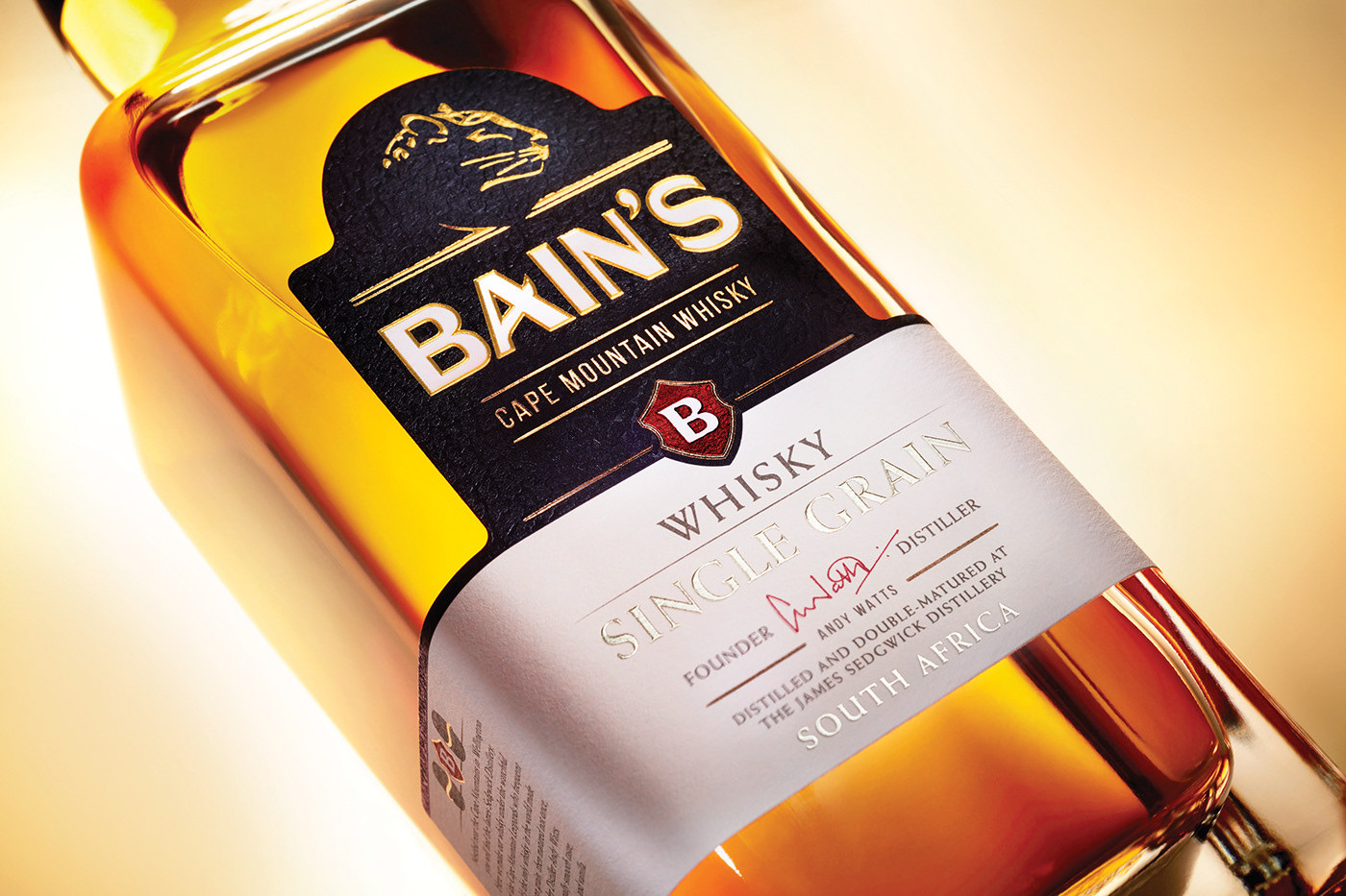 Redesign of Bain's Cape Mountain Whisky