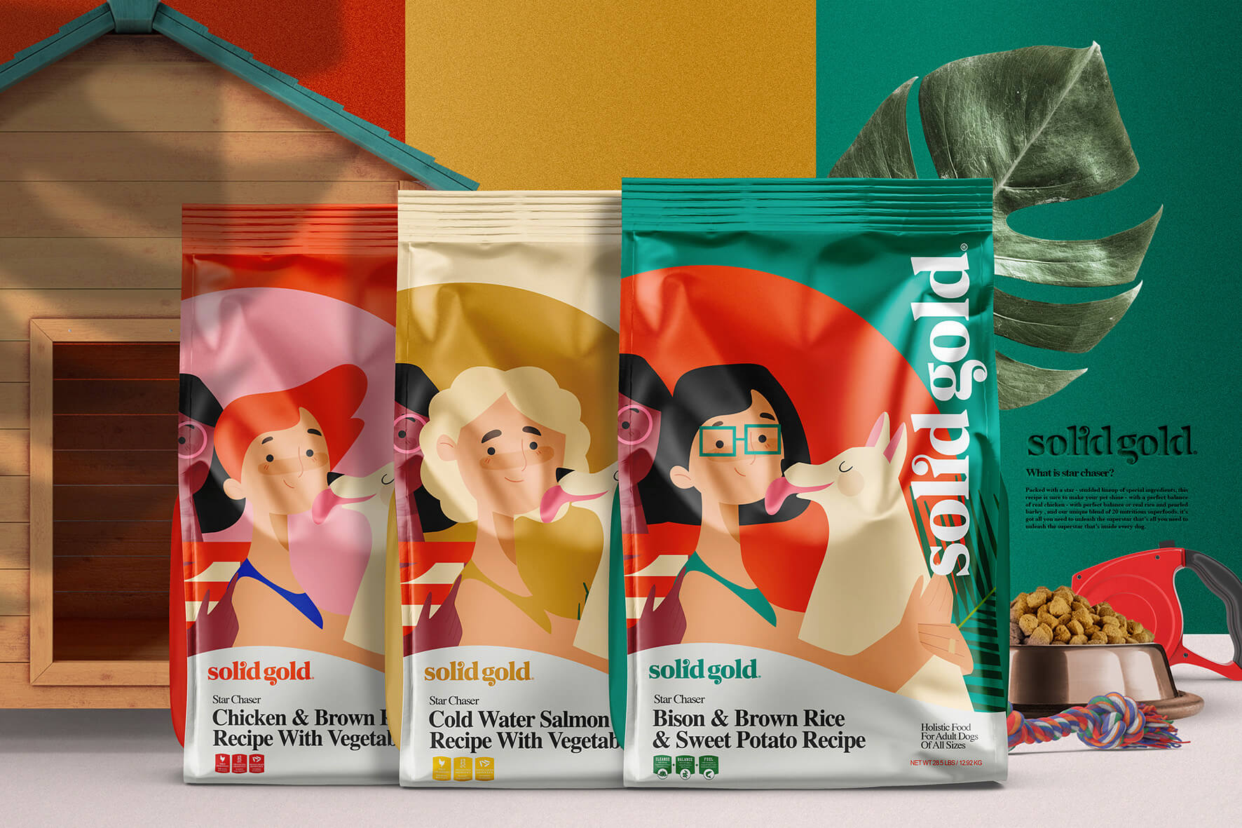 Solid Gold Holistic Pet Food Brand and Packaging