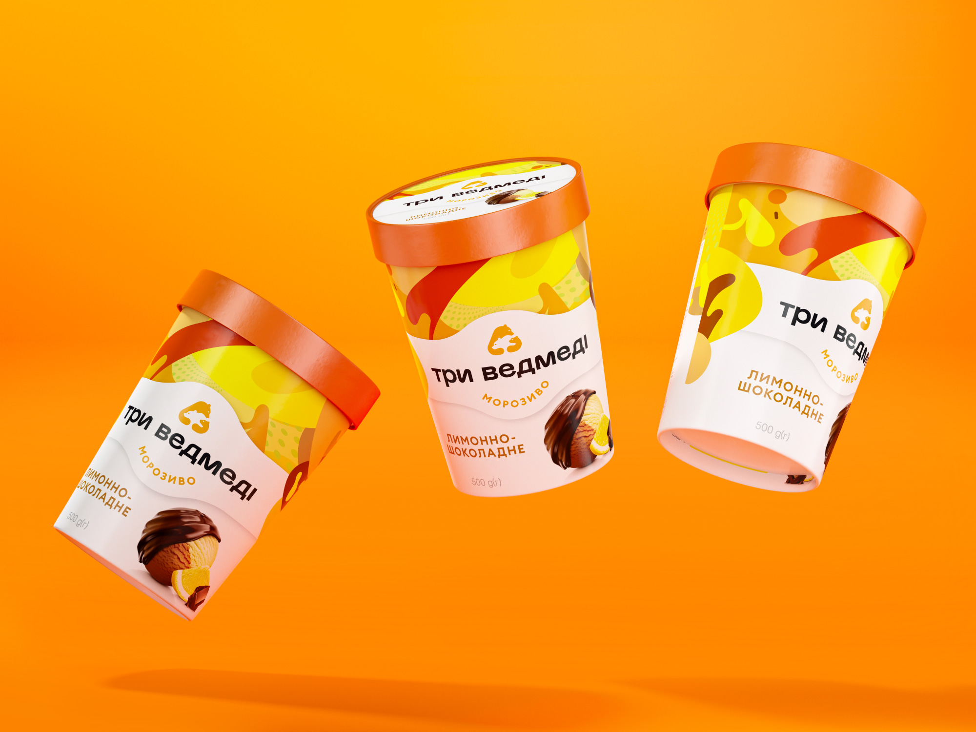 Three Bears Ice Cream Redesign of Packaging by Reynolds and Reyner