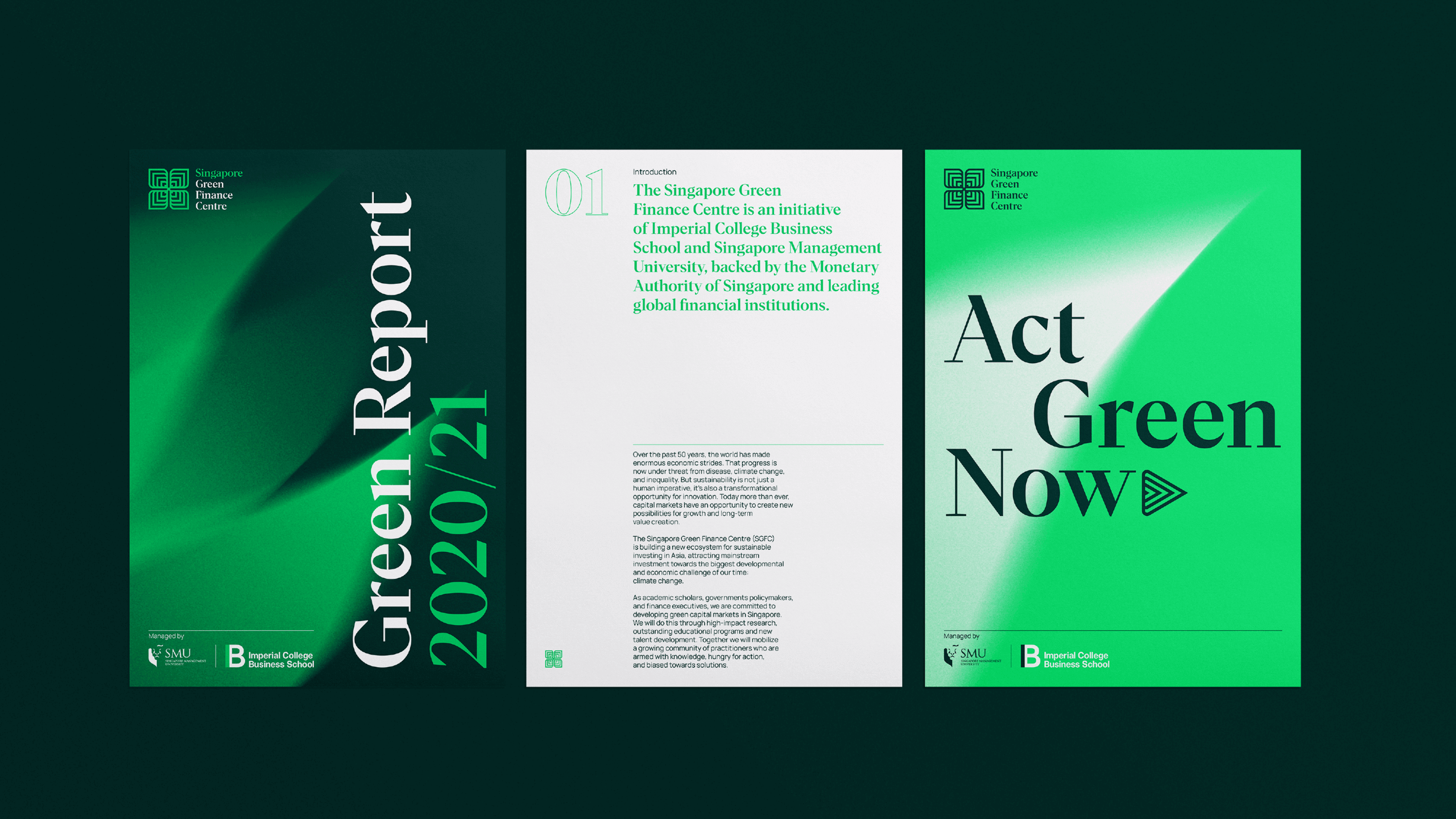 Thisaway Creates the Identity for the Singapore Green Finance Centre