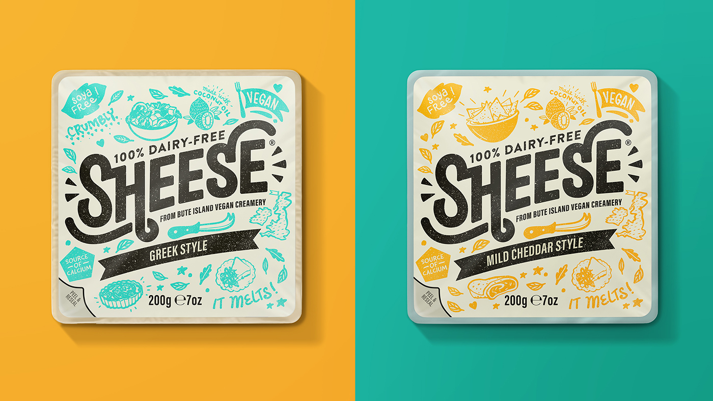 The Space Creative Rebrands Dairy-Free Cheese Brand Sheese