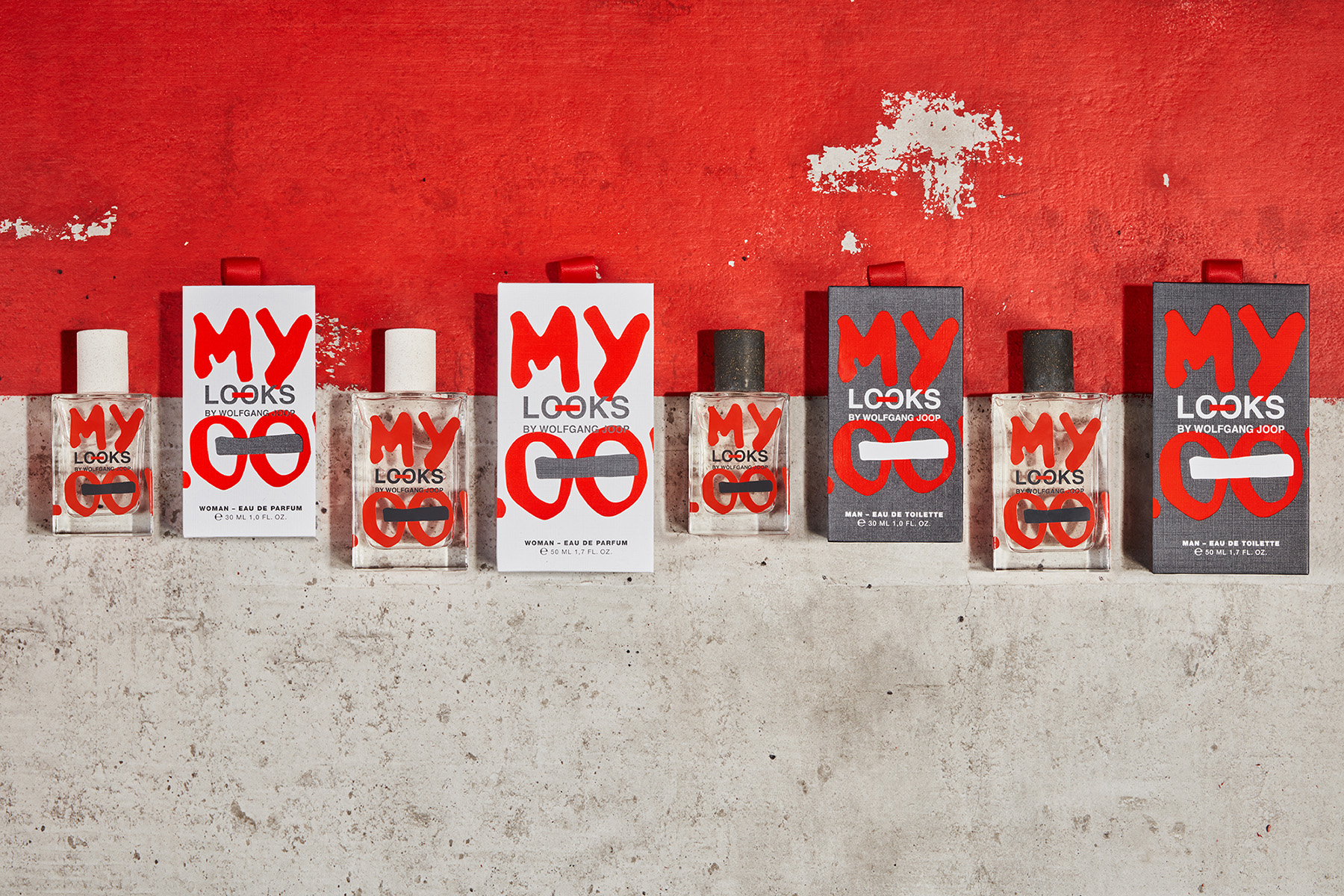 Design of Fragrances for Looks by Wolfgang Joop from Brandcouture