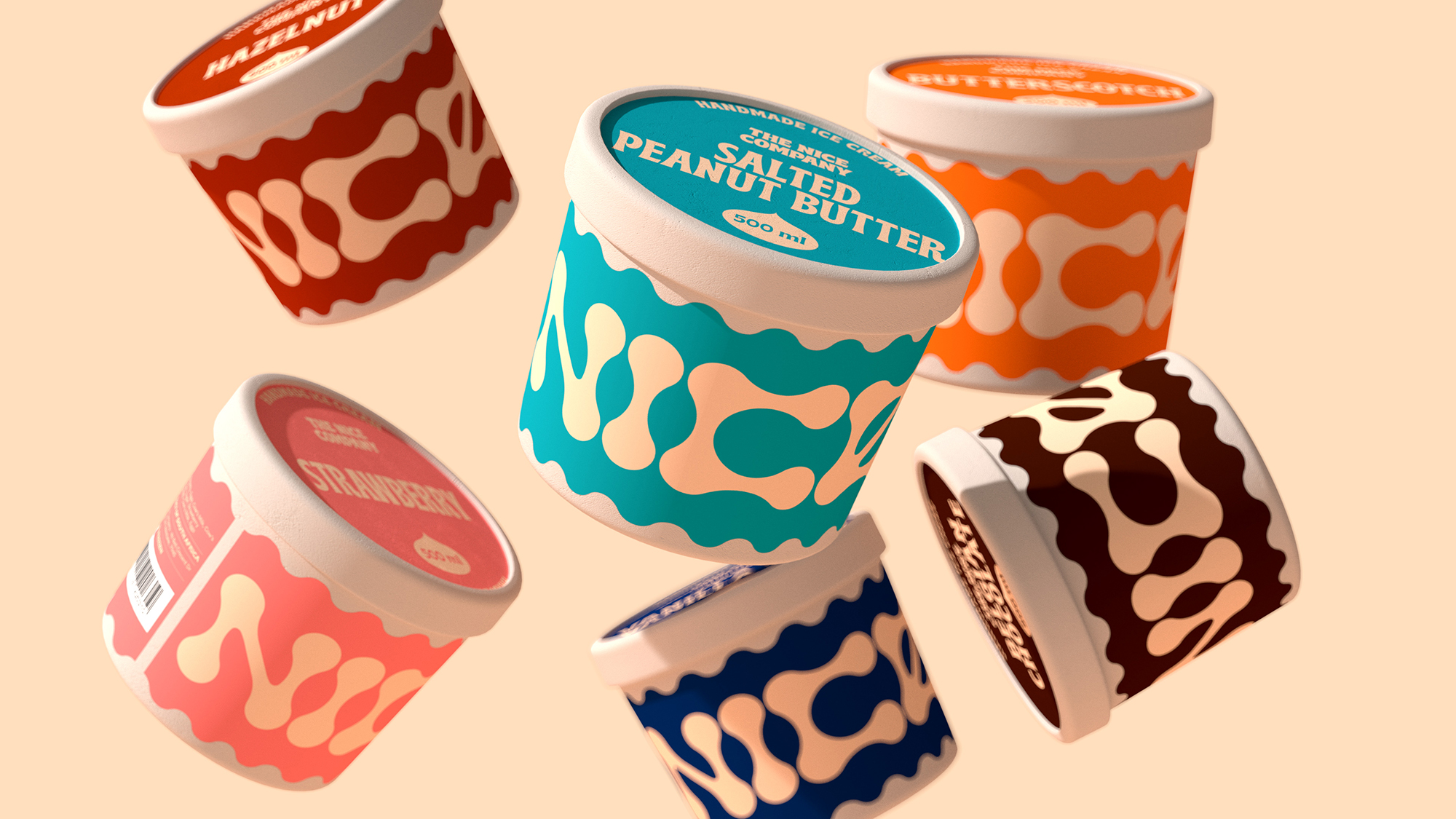 Parners in Crime Ice Cream Brand and Packaging Design for The Nice Company