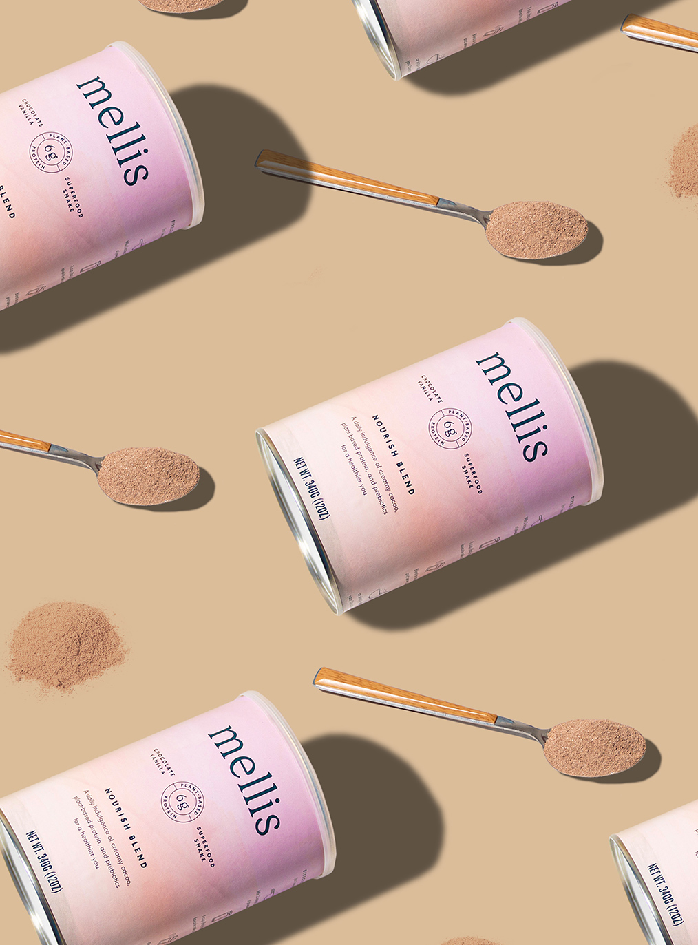 Mellis Superfood Shake Brand Identity and Packaging Design by Macaroni Creative
