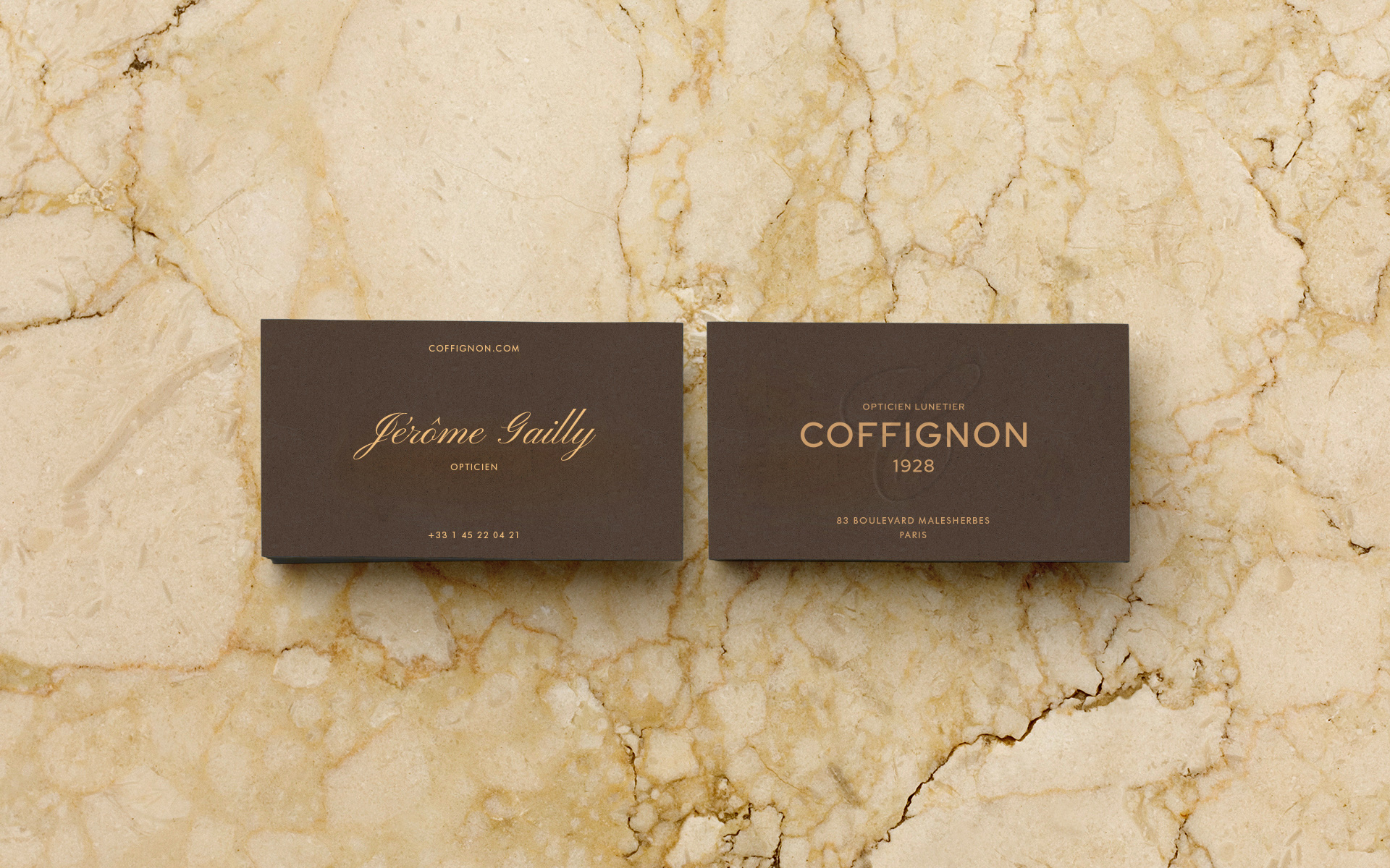 Rebrand of Coffignon, a Tailored Spectacles Brand Based in Paris
