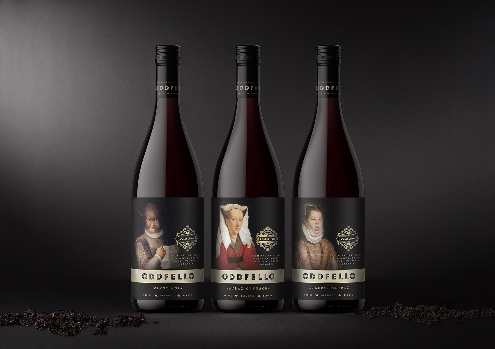 Nothing Ordinary About These Oddfello Wines Labels Designed by Mario Milostic