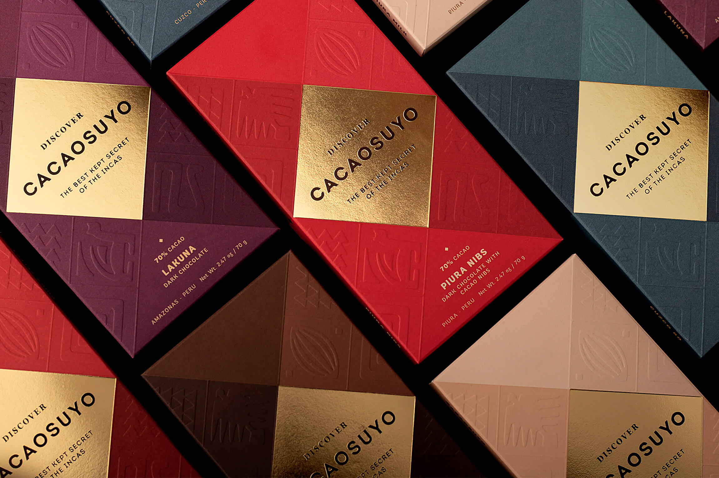 Packaging Design for the World's Best Chocolate, Inspired by the Incas and Designed by Fibra Branding