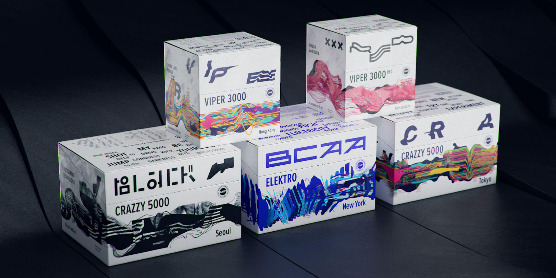 Packaging Design for New Flavors of Liquid & Liquid Sports Supplements