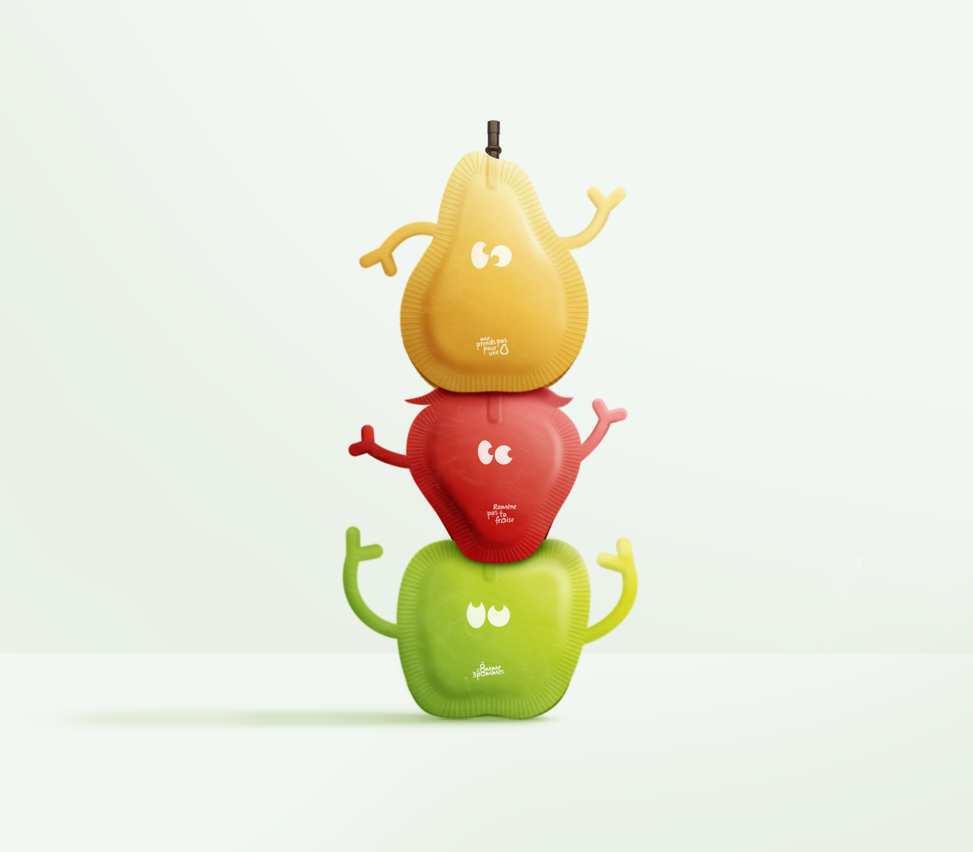 Student Concept for Ô Comme Trois Pommes, a New Brand of Compotes for Children