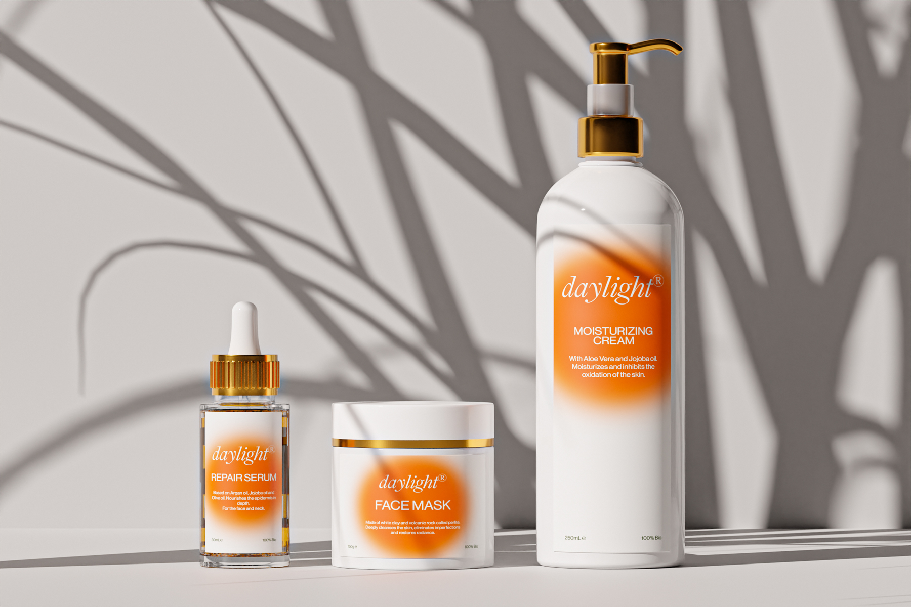 Daylight Natural Skincare Branding and Packaging Design