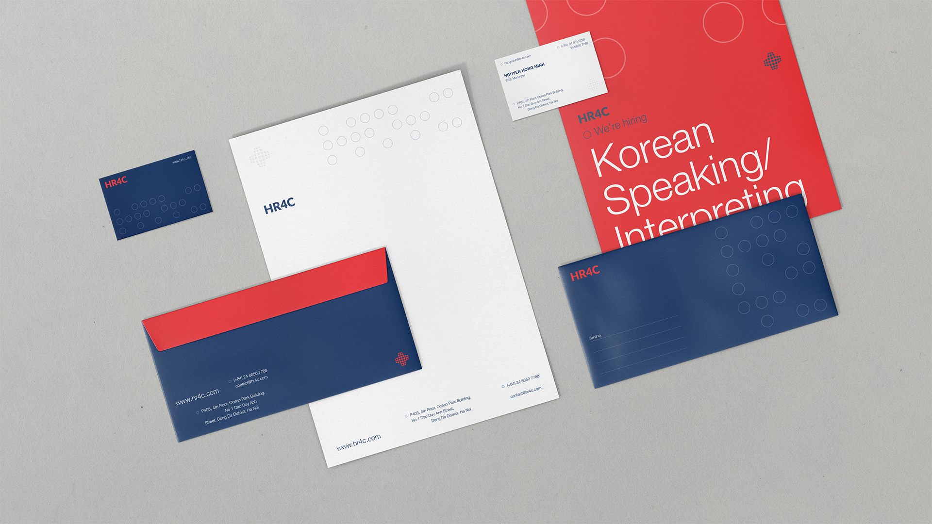 Duong Tran Creates New Brand Identity for HR4C Human Resource Consulting Firm