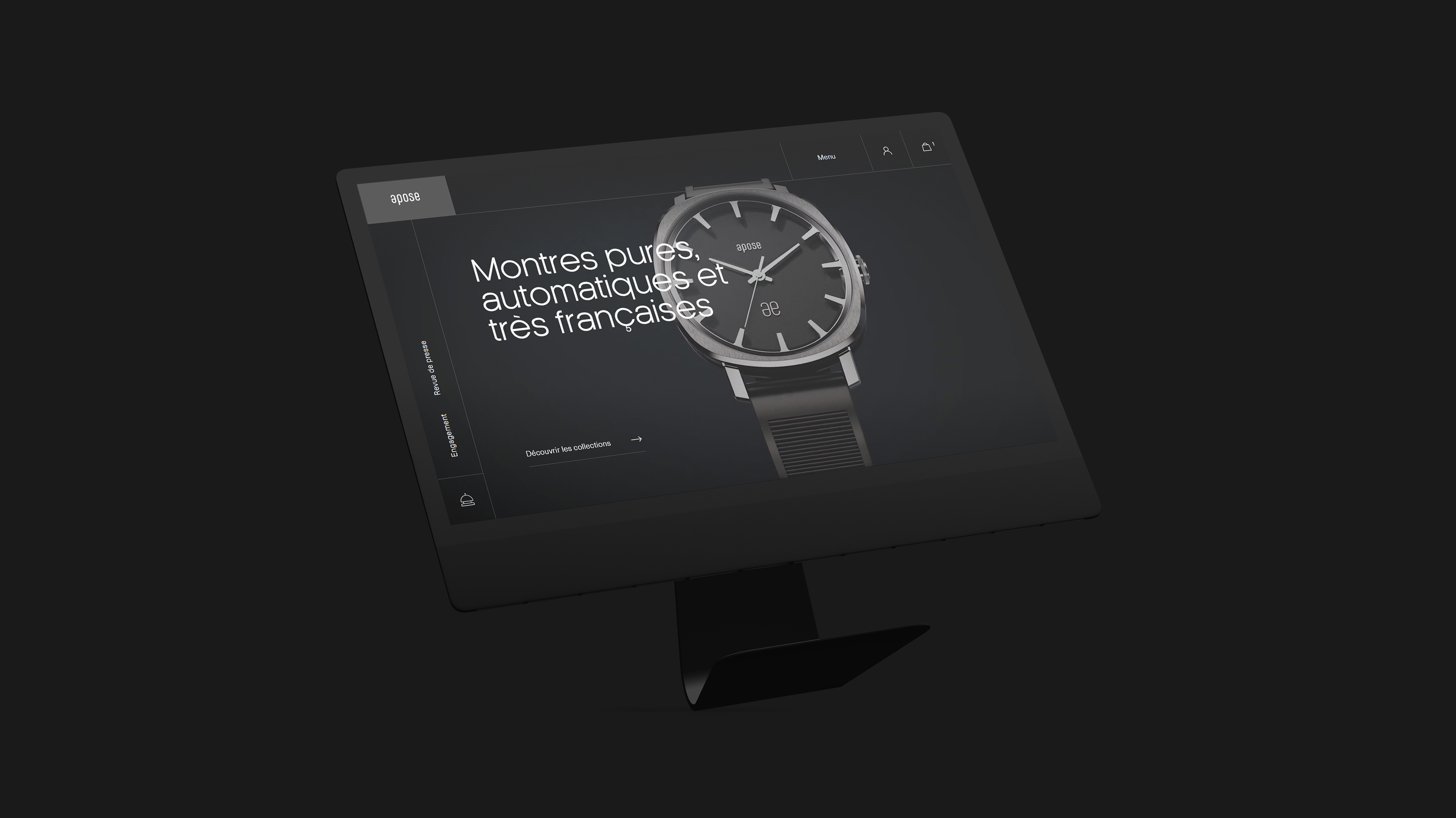 Web Design for Apose Watches by Mars Rouge