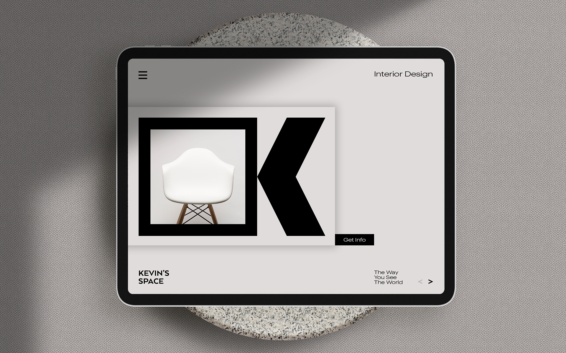 Clean Branding for a Young Interior Studio Kevin's Space