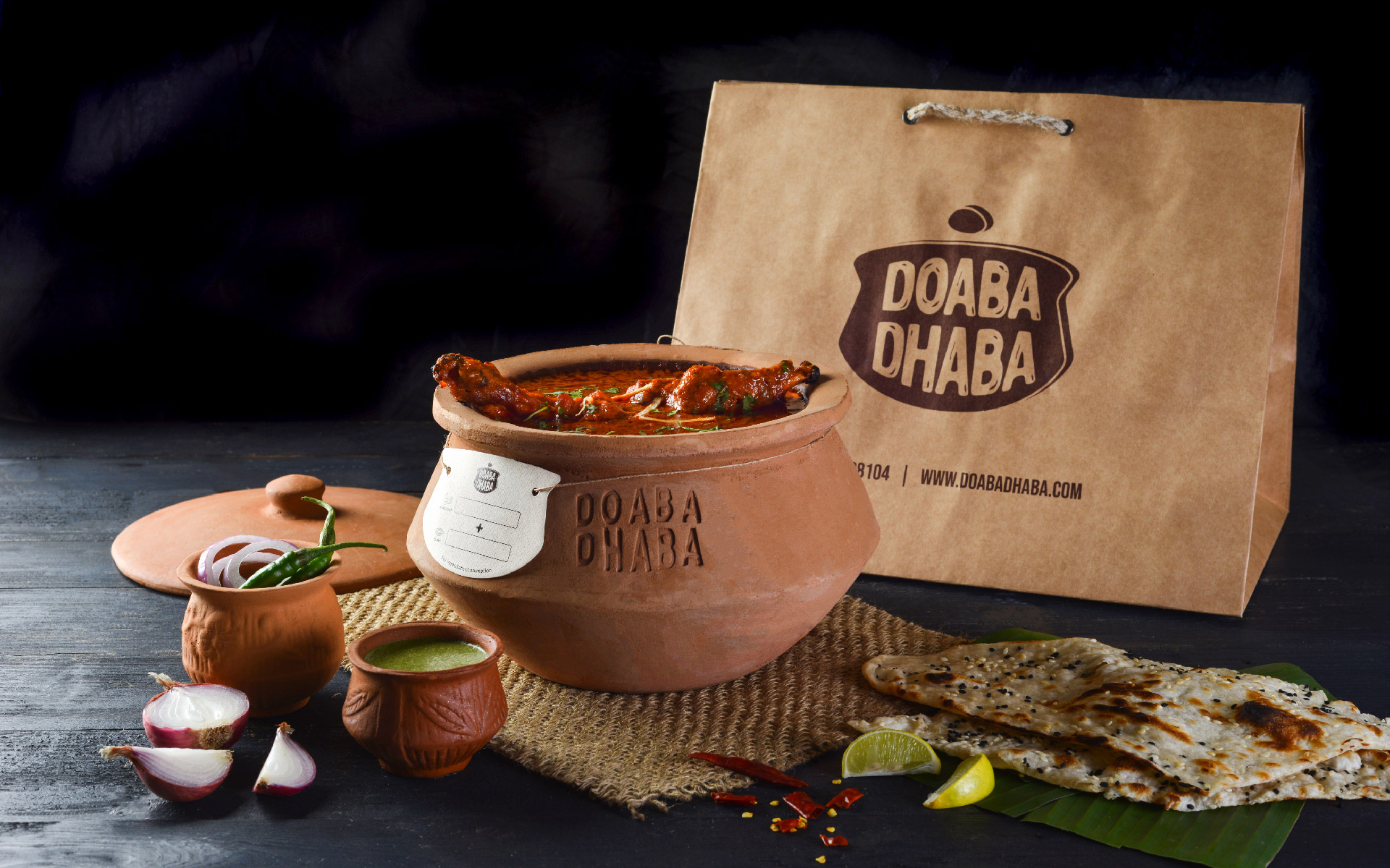 Brand Identity and Packaging Design for Doaba Dhaba Created by Akkshit Khattar