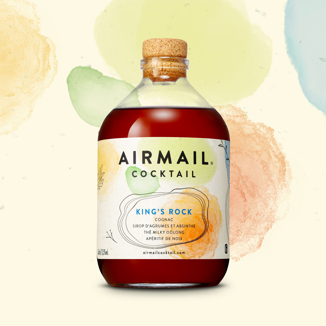 Maison Linea Agency Creates Labels for Airmail Cocktail Ready-to-Drink