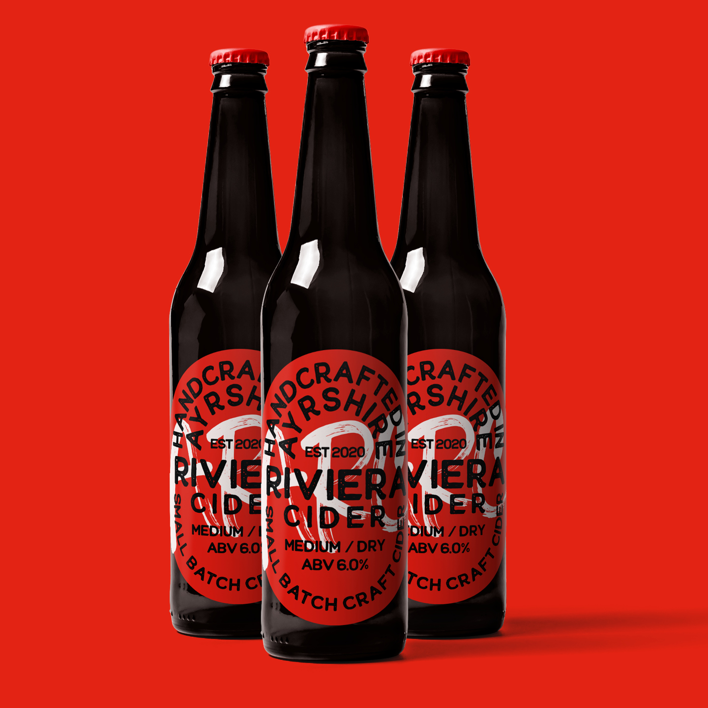 Ayrshire Riviera Cider Packaging Created by M.M.Design