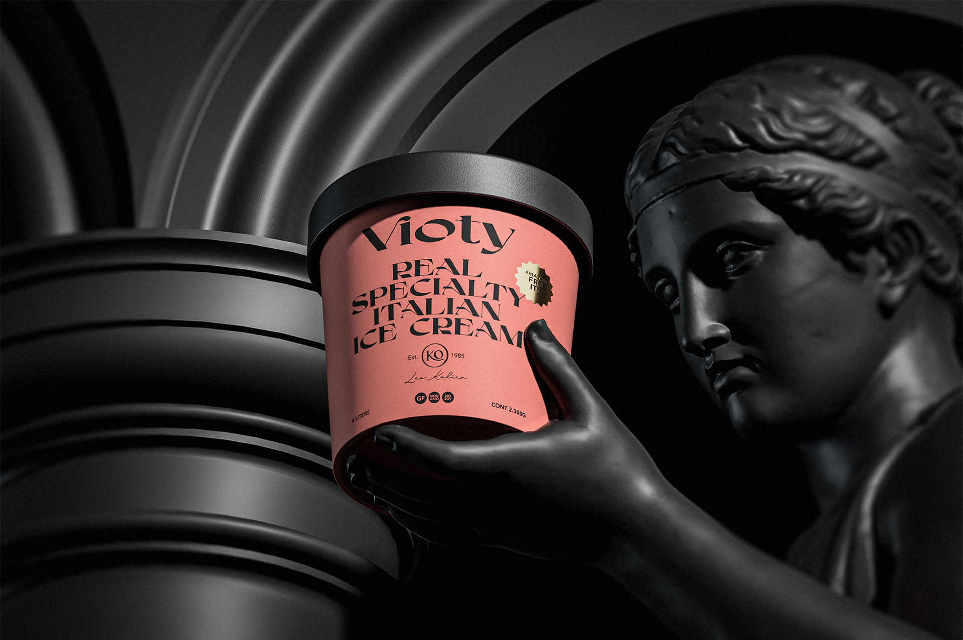 Vioty Ice Cream Packaging Design Created by David Espinosa