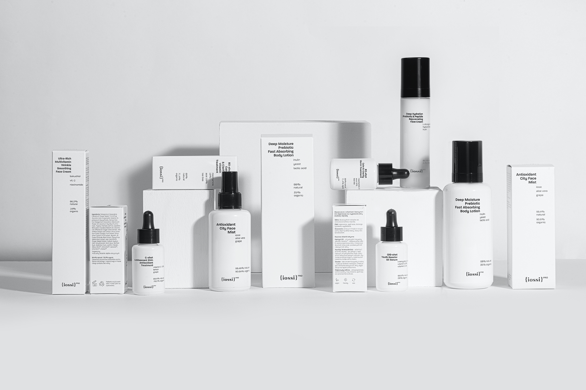 Łobzowska Studio Create Packaging Design For The Iossi Pro a Natural Skincare Cosmetics