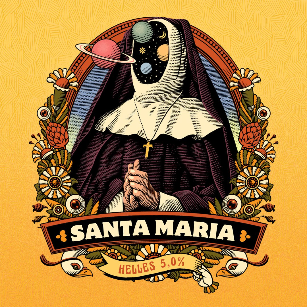 Santa Maria Craft Beers Graphics and Illustration by Marcello Crescenzi