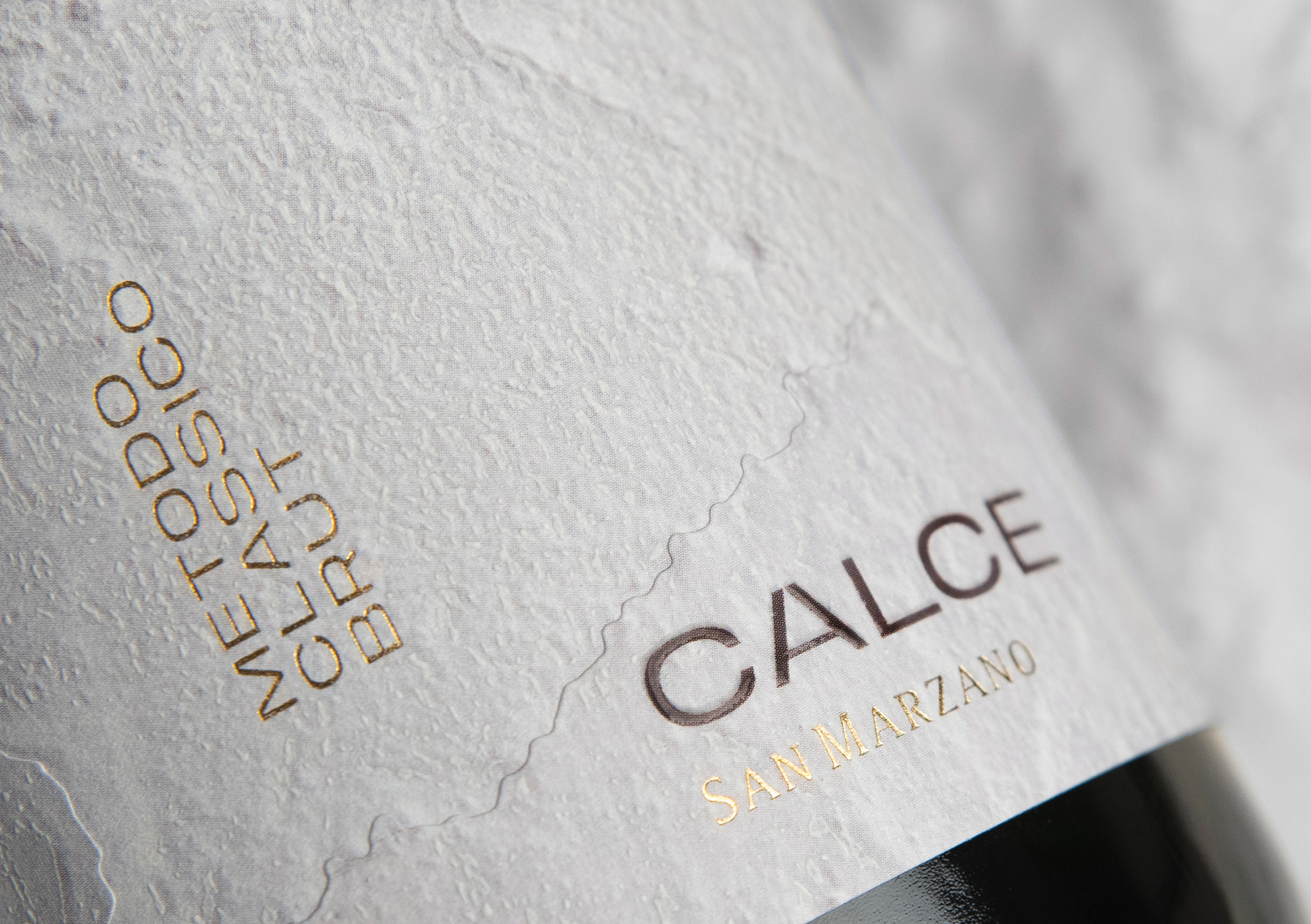Calce Metodo Classico Brut Label Packaging Design by Usopposto