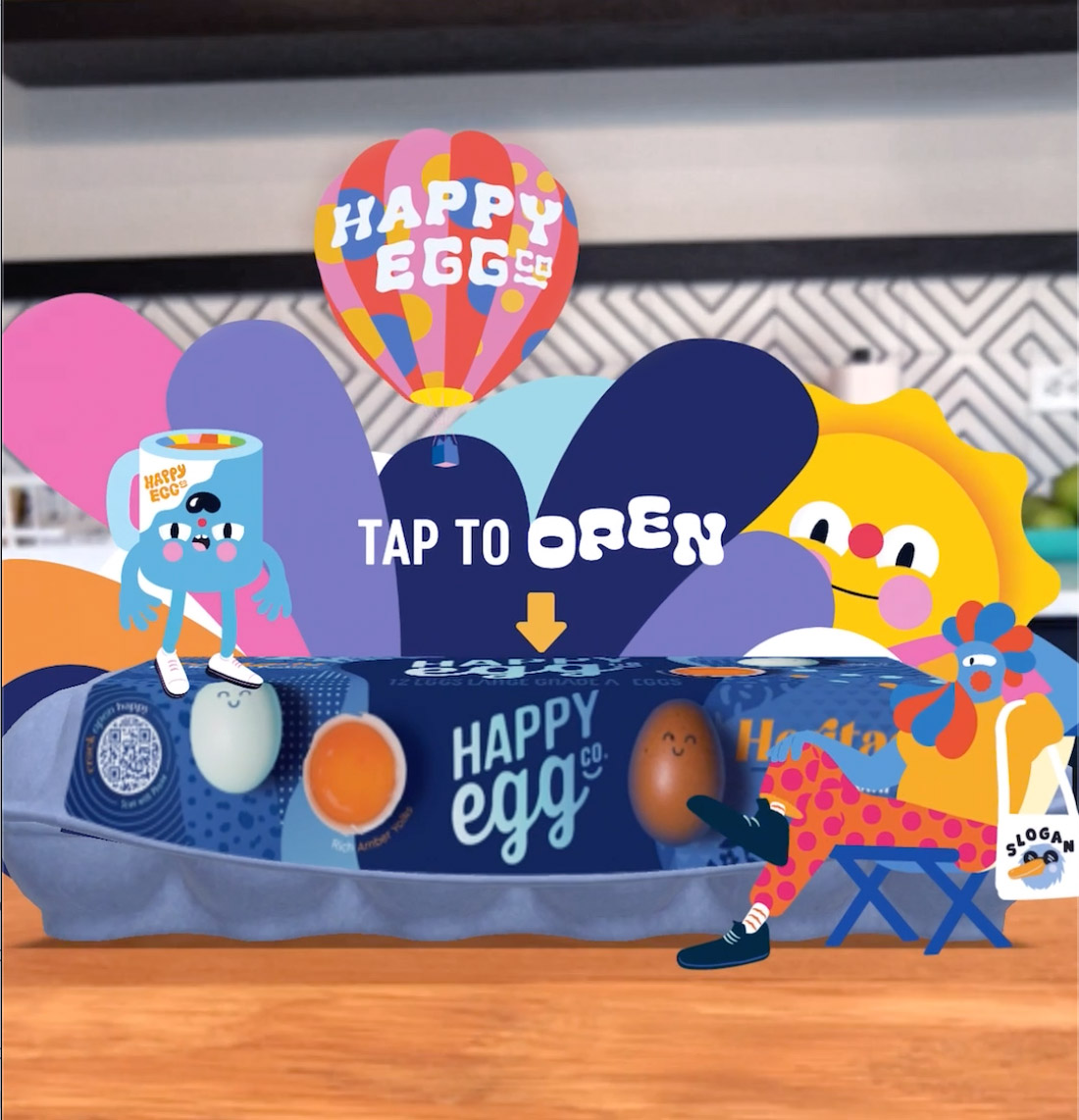 The Martin Agency, Zappar and Street Artist Brolga Teamed up to Create the First Gamified AR Egg Carton