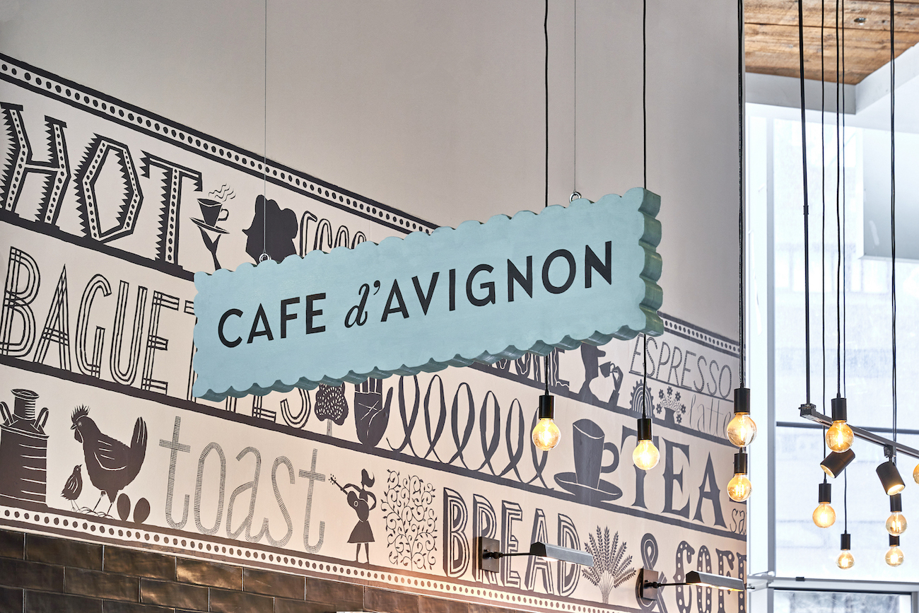 Mucca Brings Old World Tradition to NYC with Charming Identity for Cafe d'Avignon