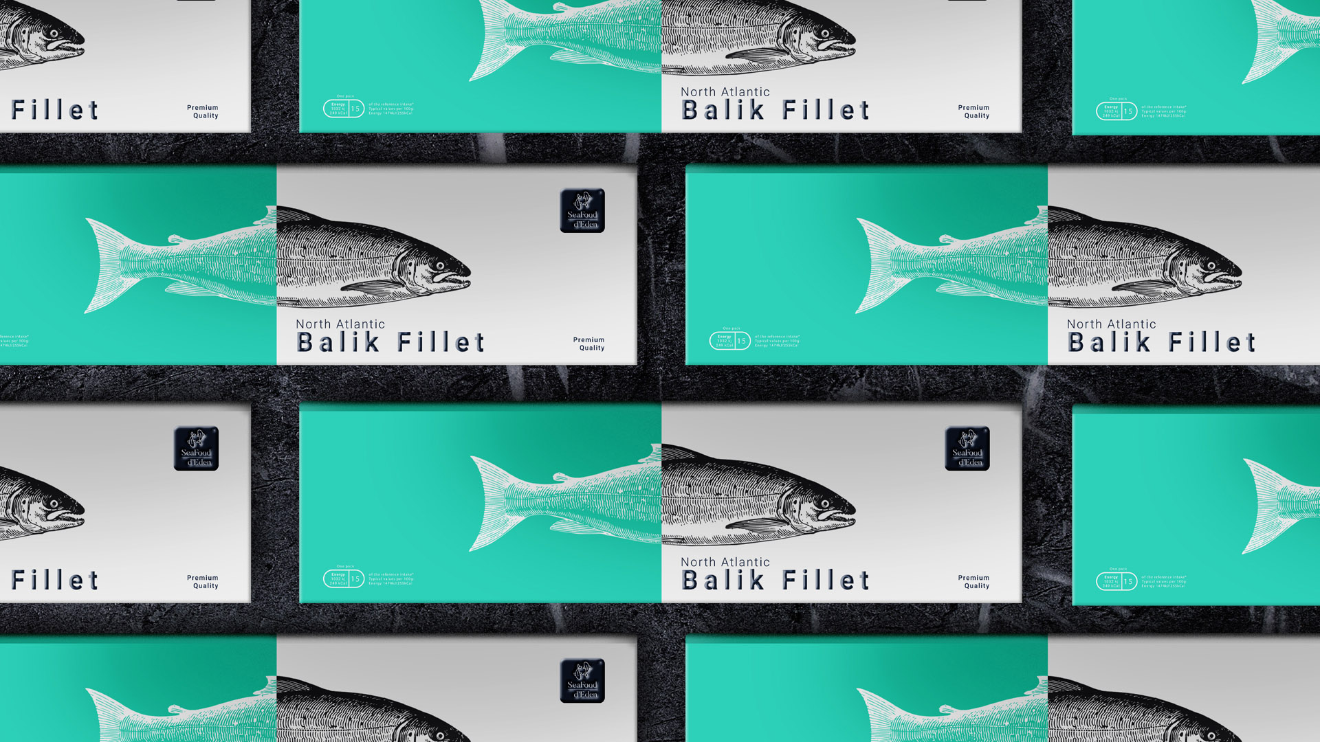 SeaFood d'Eden Brand Identity and Packaging Design for Seafood Products Line