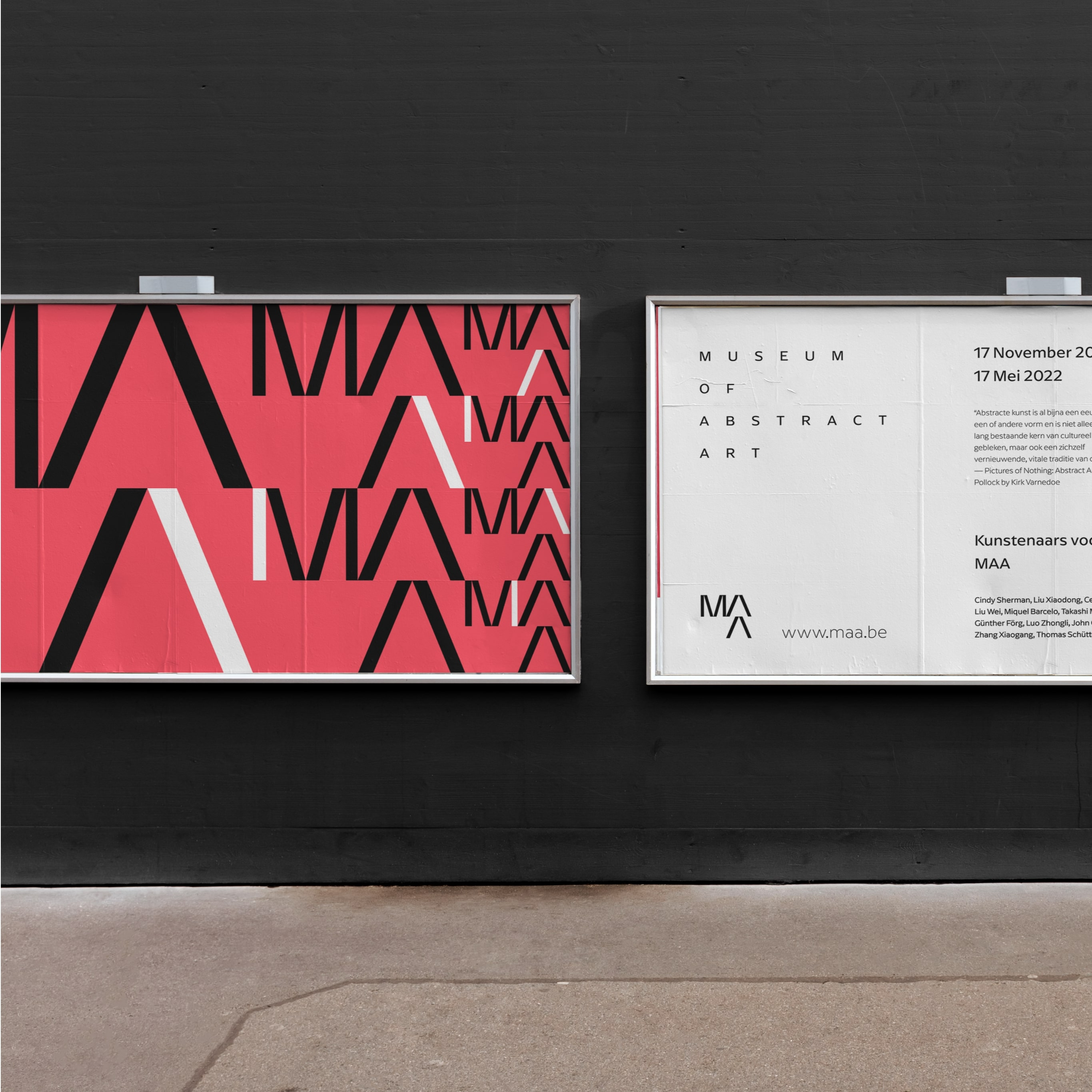 Student Concept Branding for Museum of Abstract Art