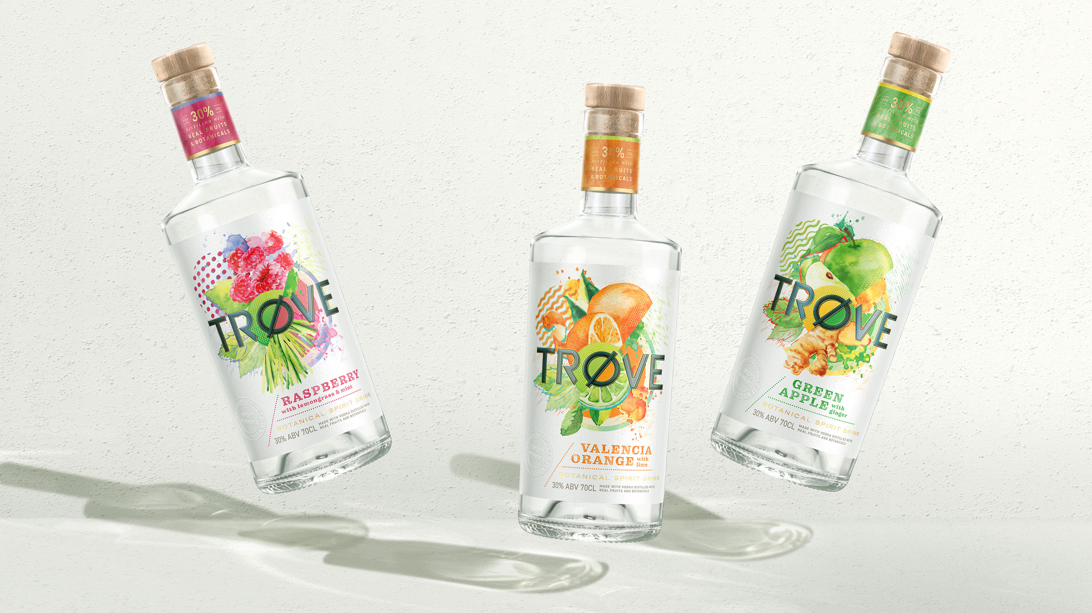 Trøve Low ABV Botanical Spirits Brand Creation by Butterfly Cannon