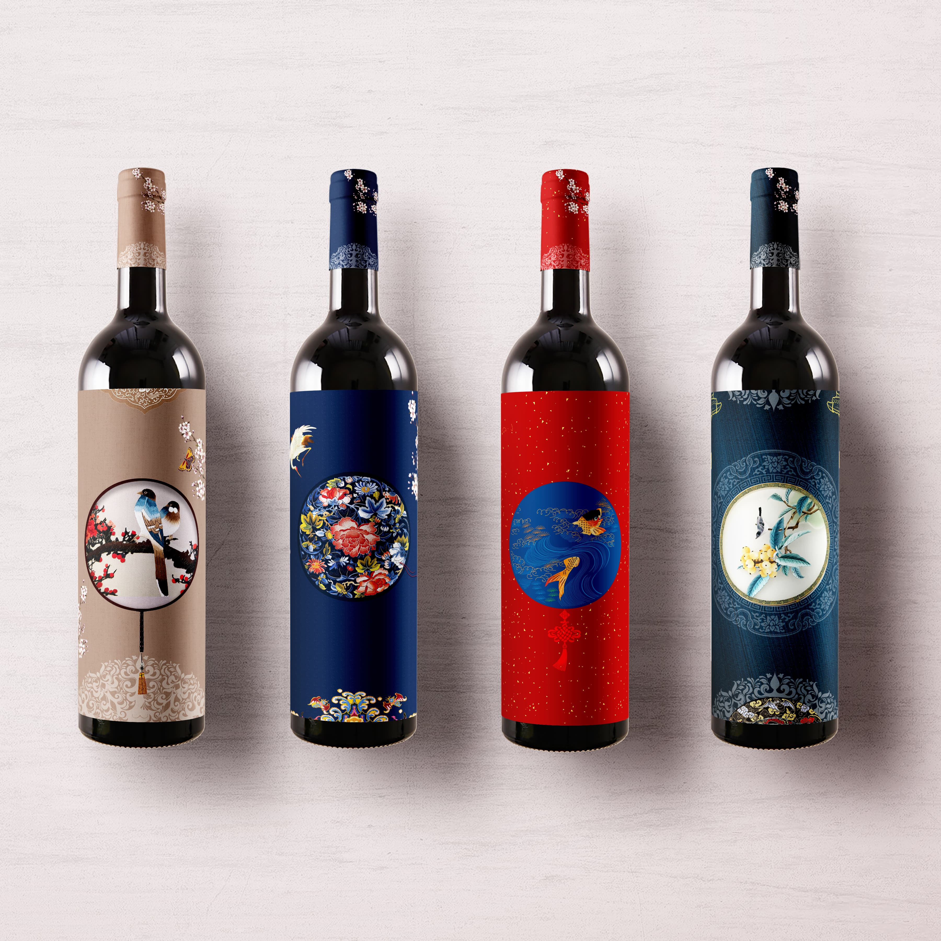 Min Lu Creates Imperial Palaces Premium Wine Collection Packaging