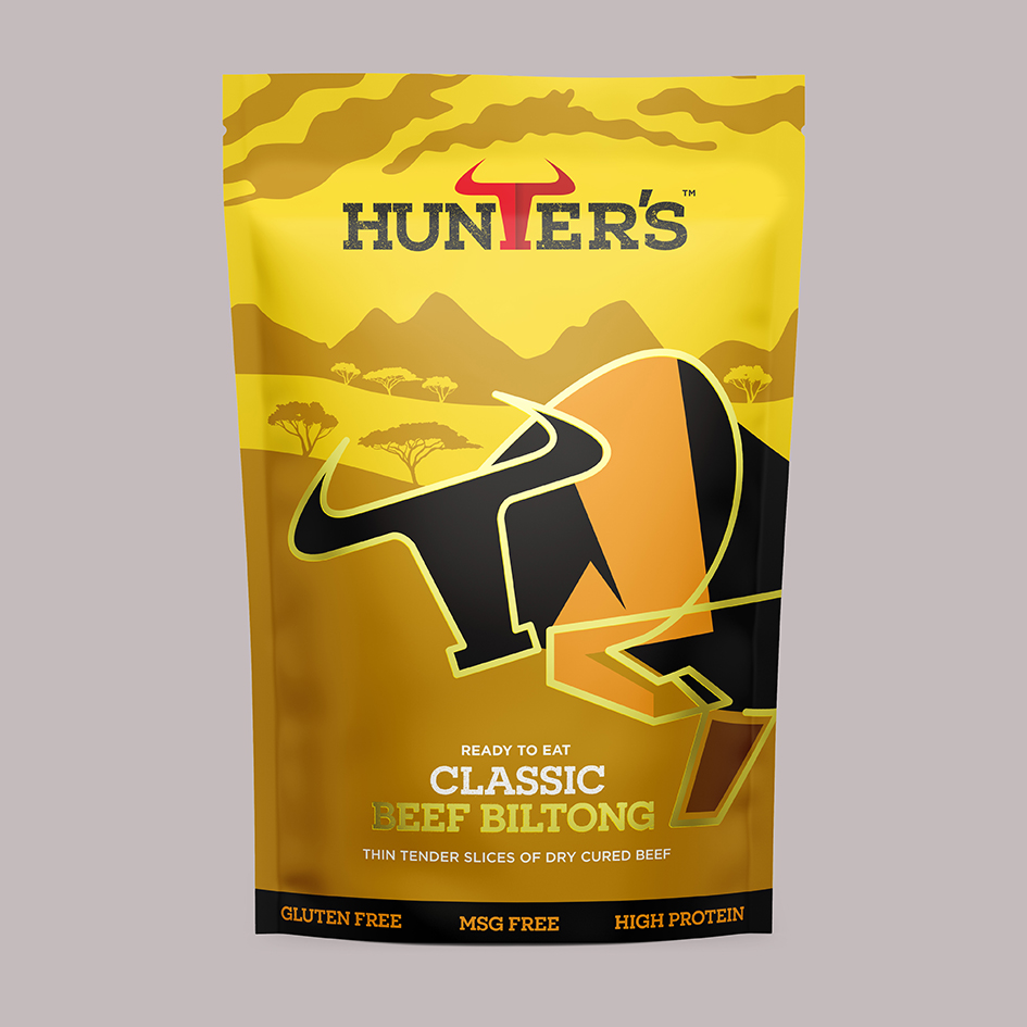 Hunters Biltong and Jerky Packaging Design Created by Pencil Studio