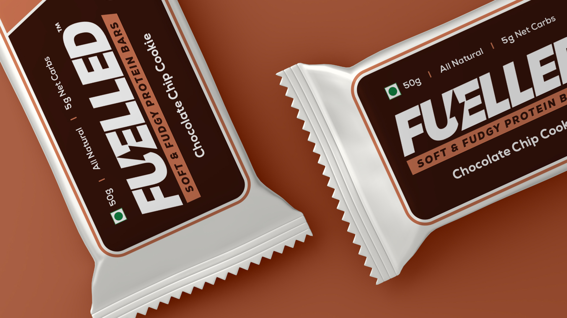 Brand Identity and Packaging Design for a Fuelled, a Gourmet Nutrition Company