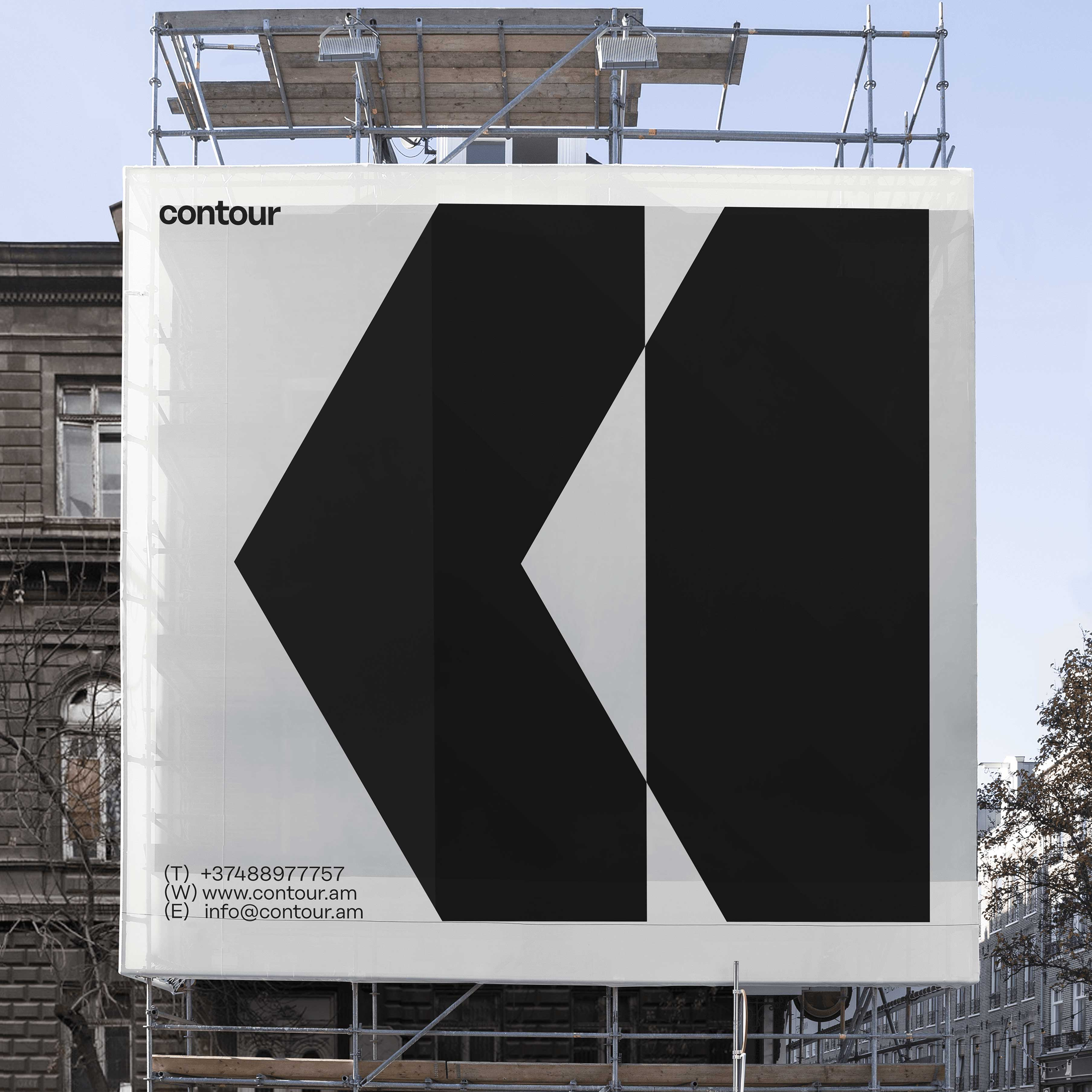 Digital Factory Create Branding for Contour Architecture, Design, and Construction
