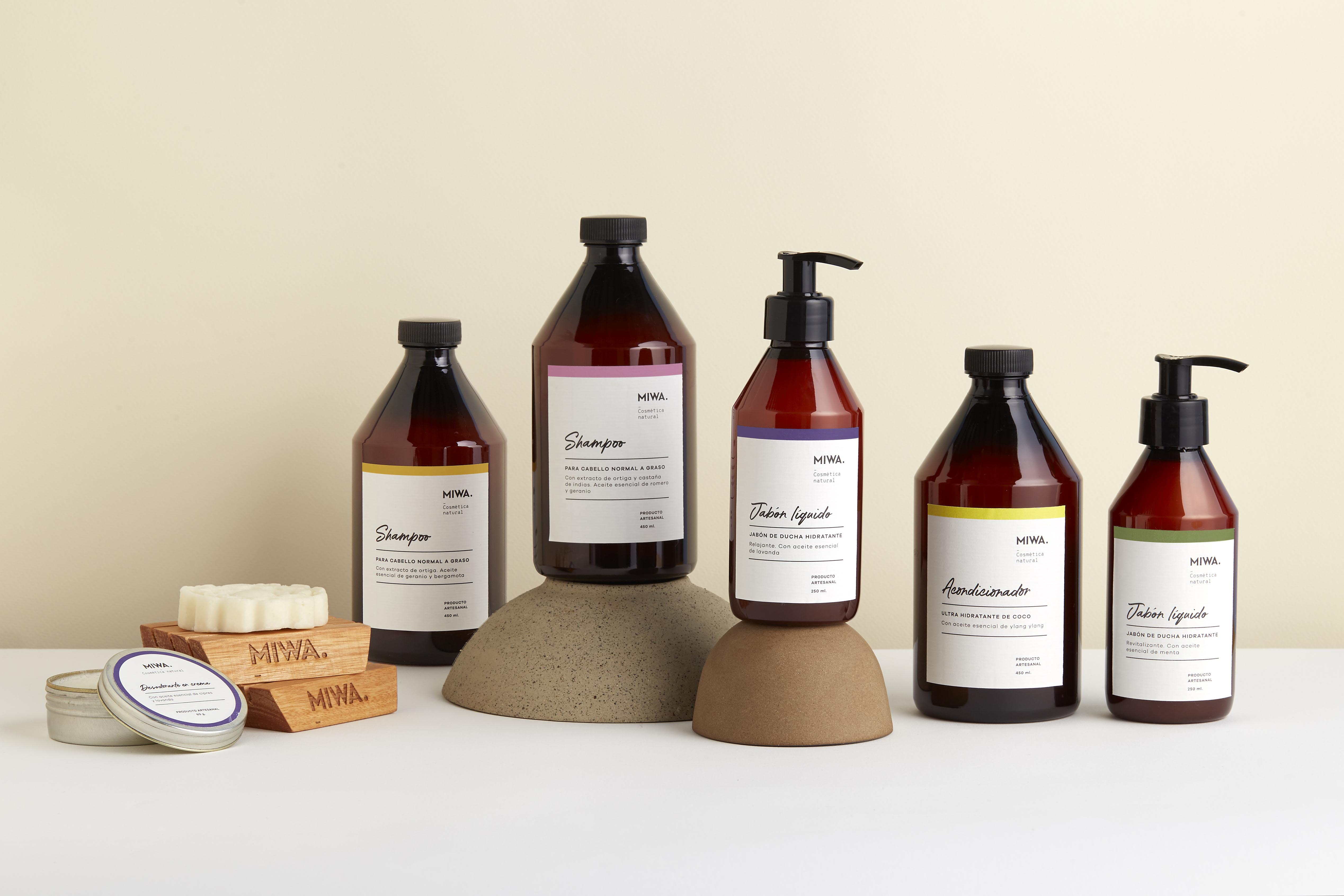 Miwa Natural Skincare and Cosmethics Brand and Packaging Design by Cobra