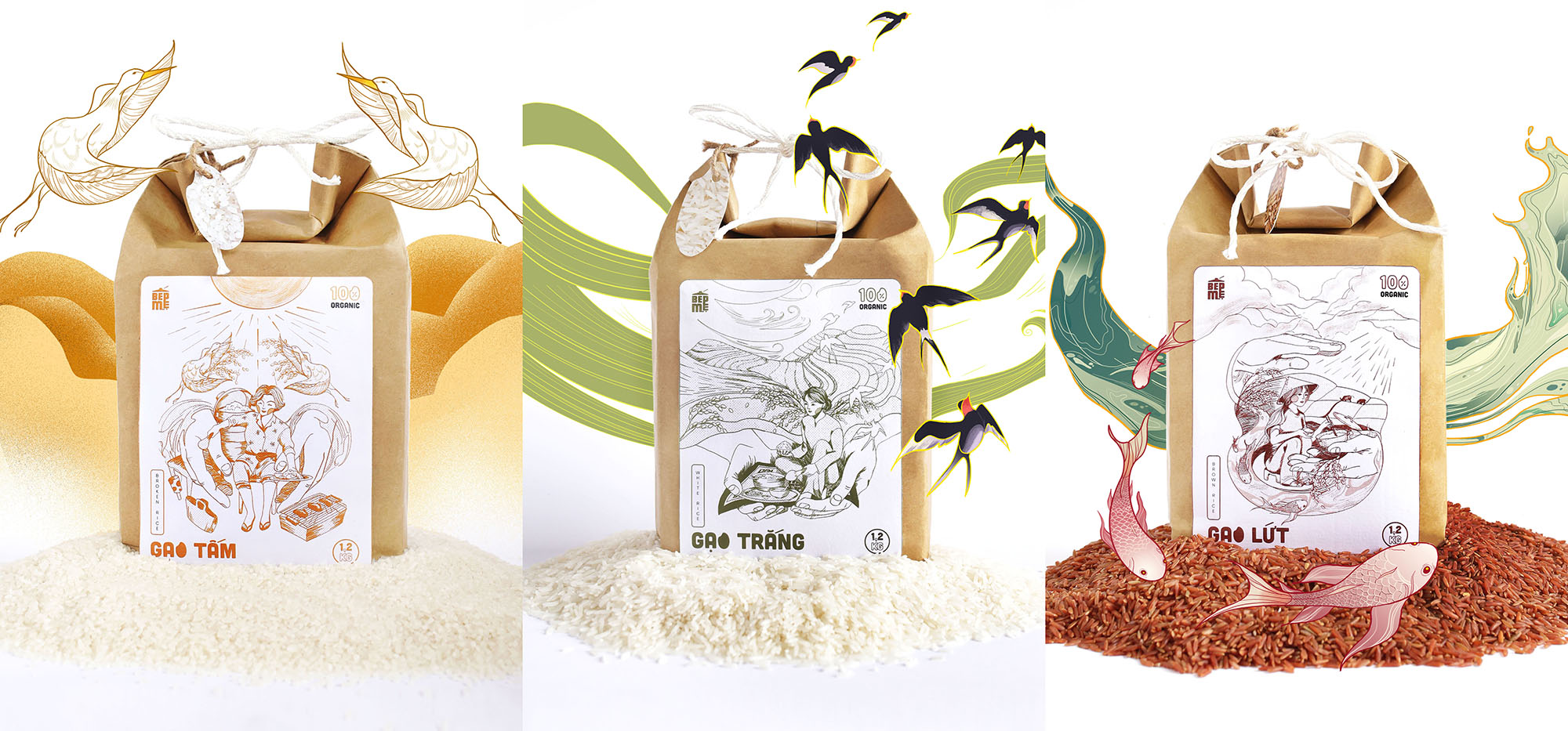 Mother Kitchen Organic Rice Student Packaging Design