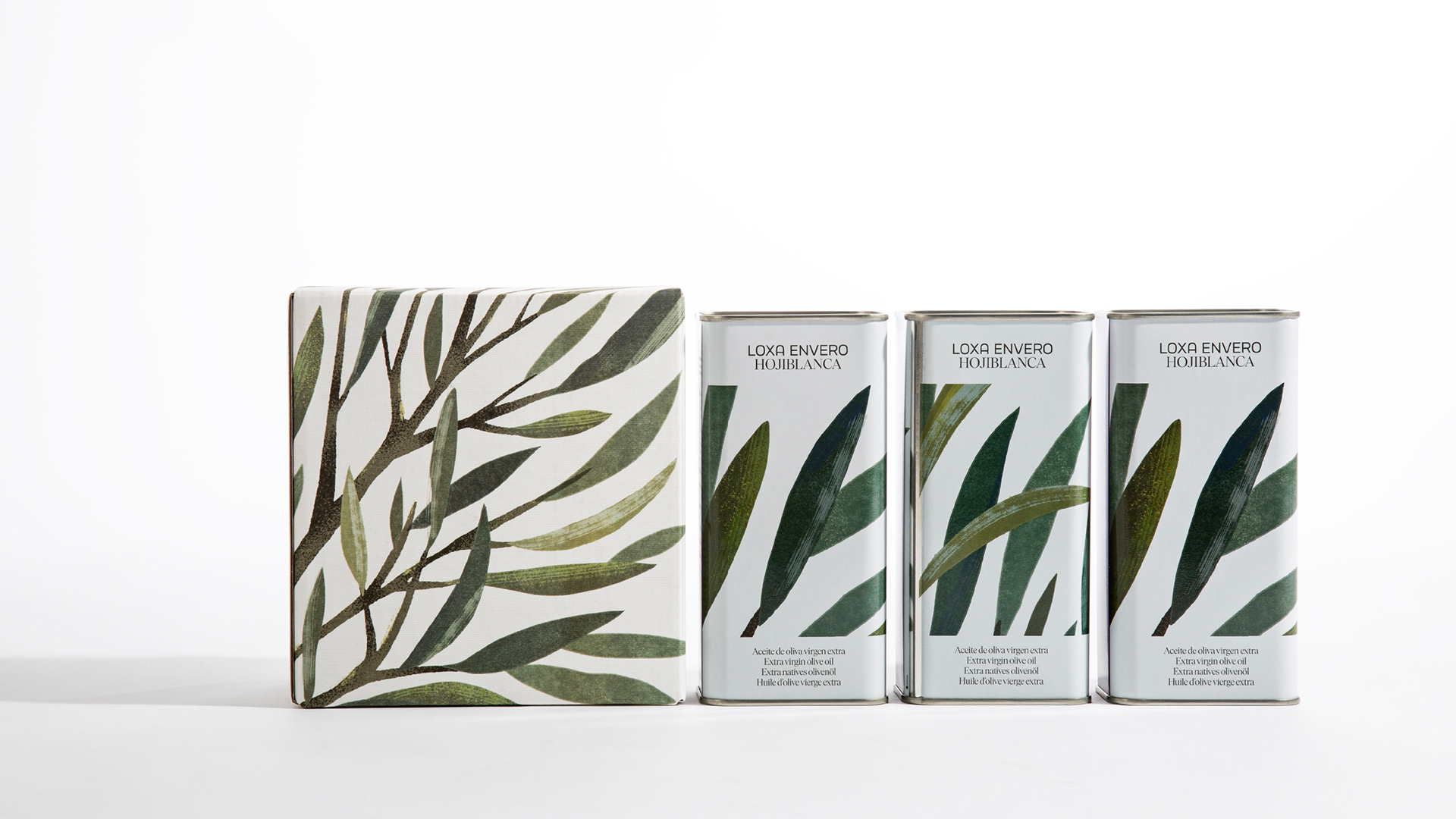 Visual System and Packaging Design for Loxa Envero Extra Virgin Olive Oil by Buenaventura Studio