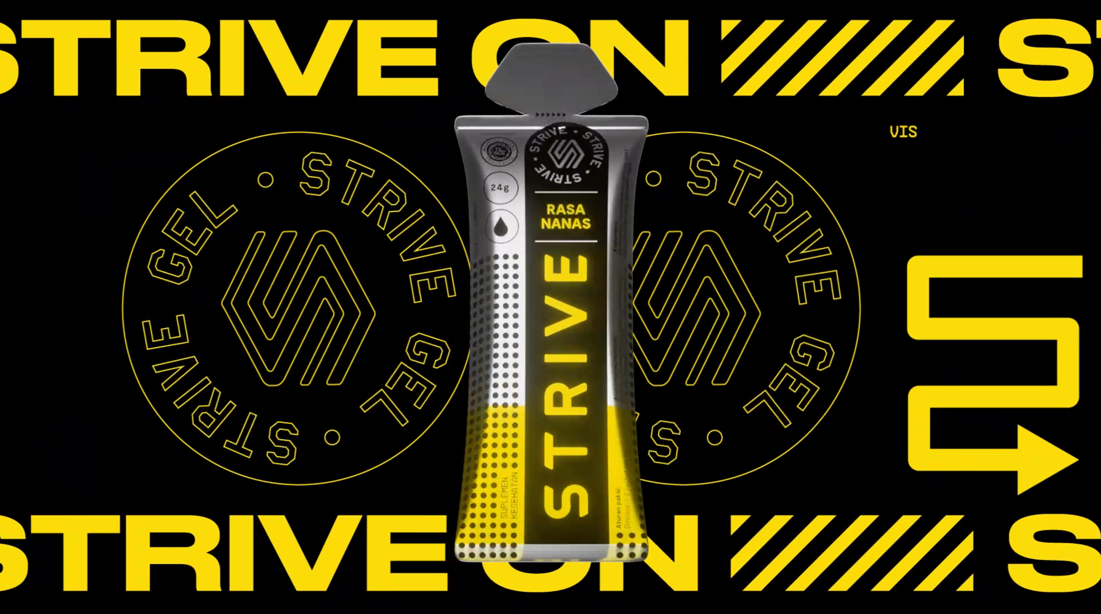 Strive Gel Packaging for Indonesian-Based Energy Fuel Food Brand by The 1984
