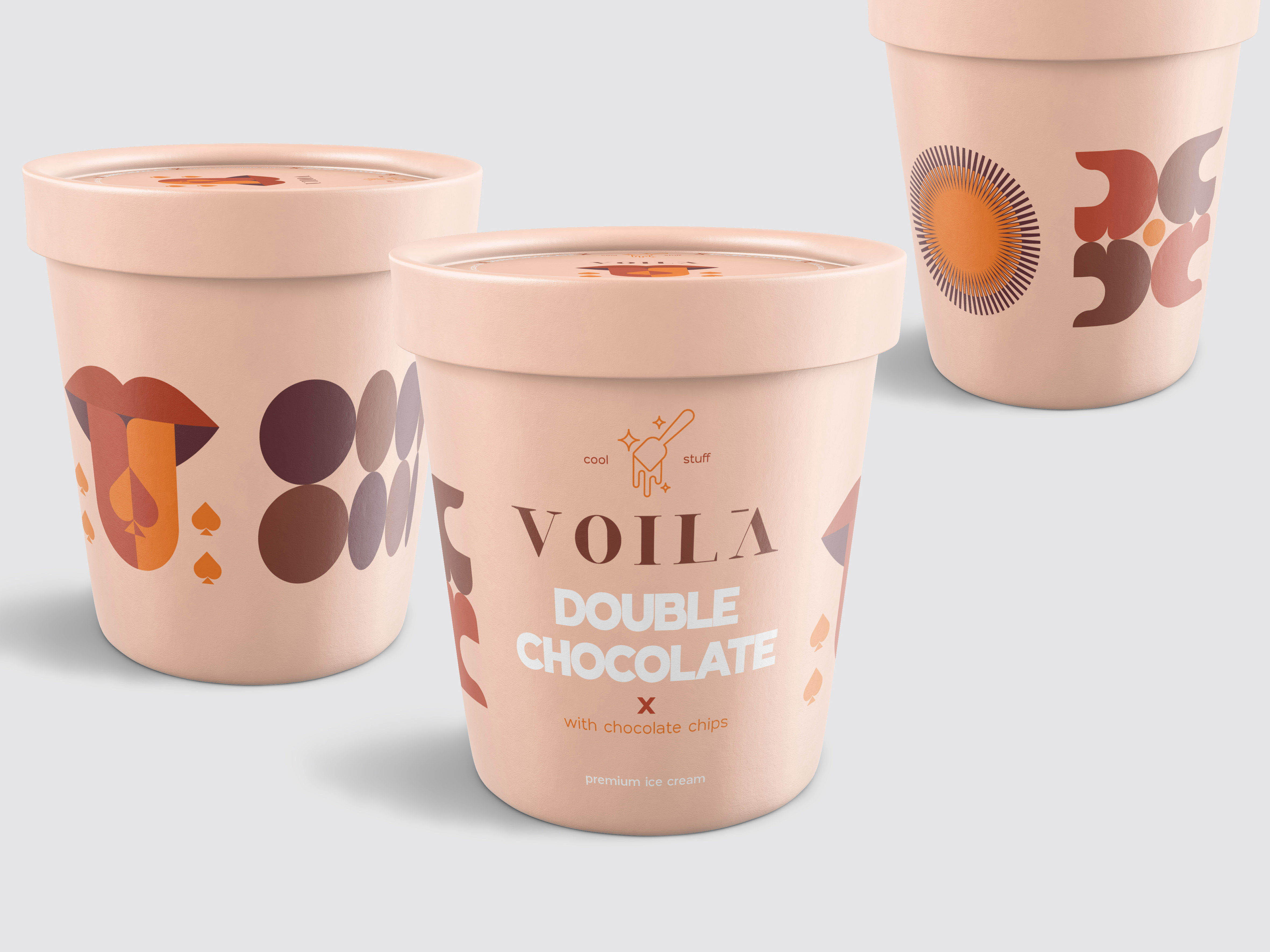 Bold Branding Creates Identity and Packaging Design for Egyptian Voilà Dessert Retail Brand