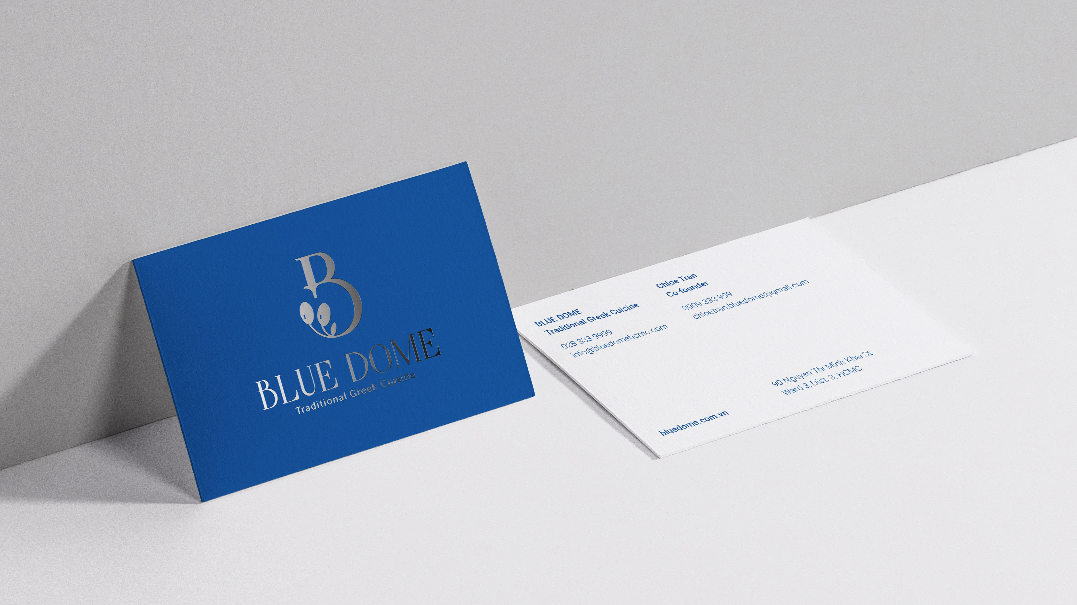 Blue Dome Traditional Greek Cuisine Branding by Son Nguyen