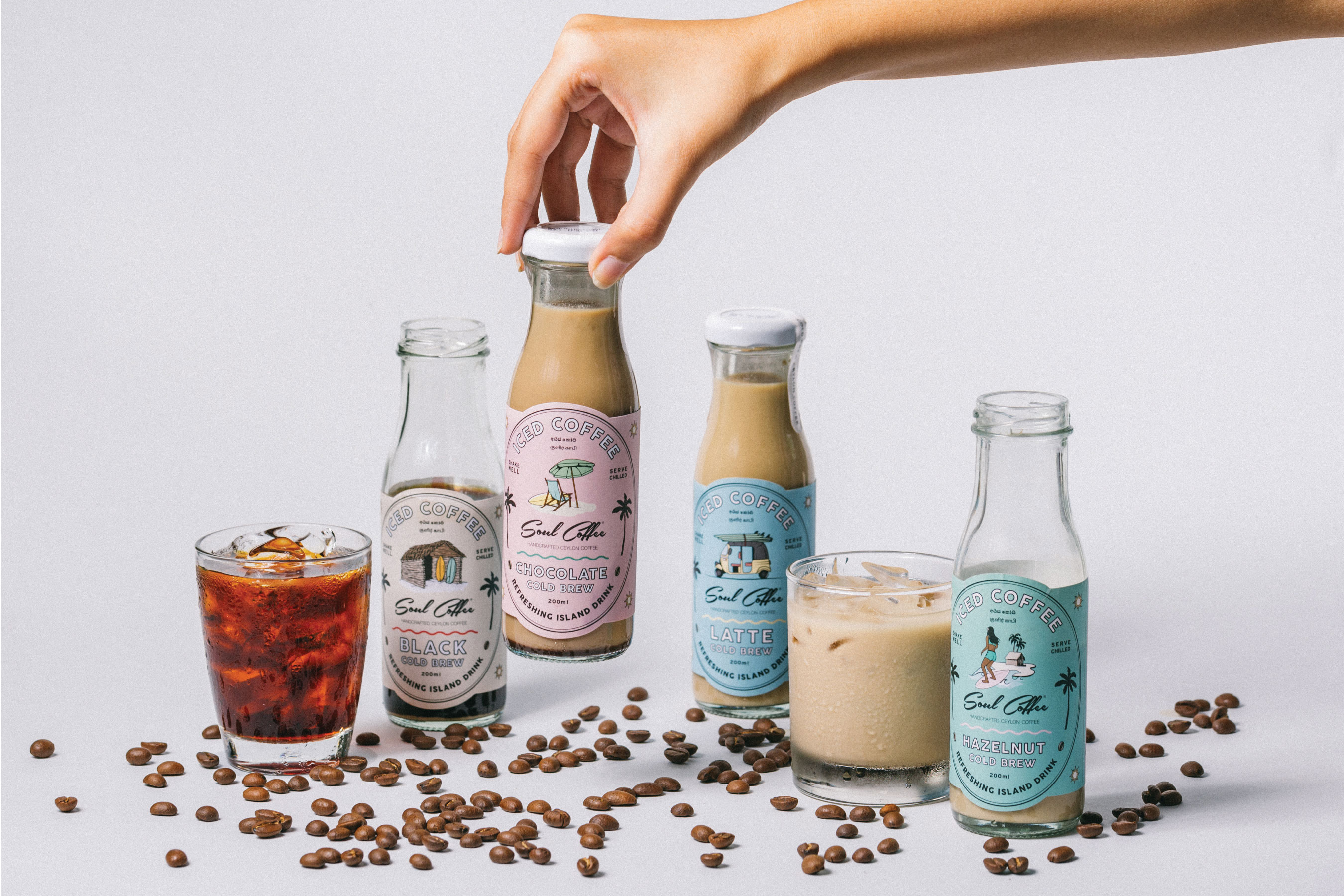 Iced Coffee Label Design for Soul Coffee Designed by Studio Nice One