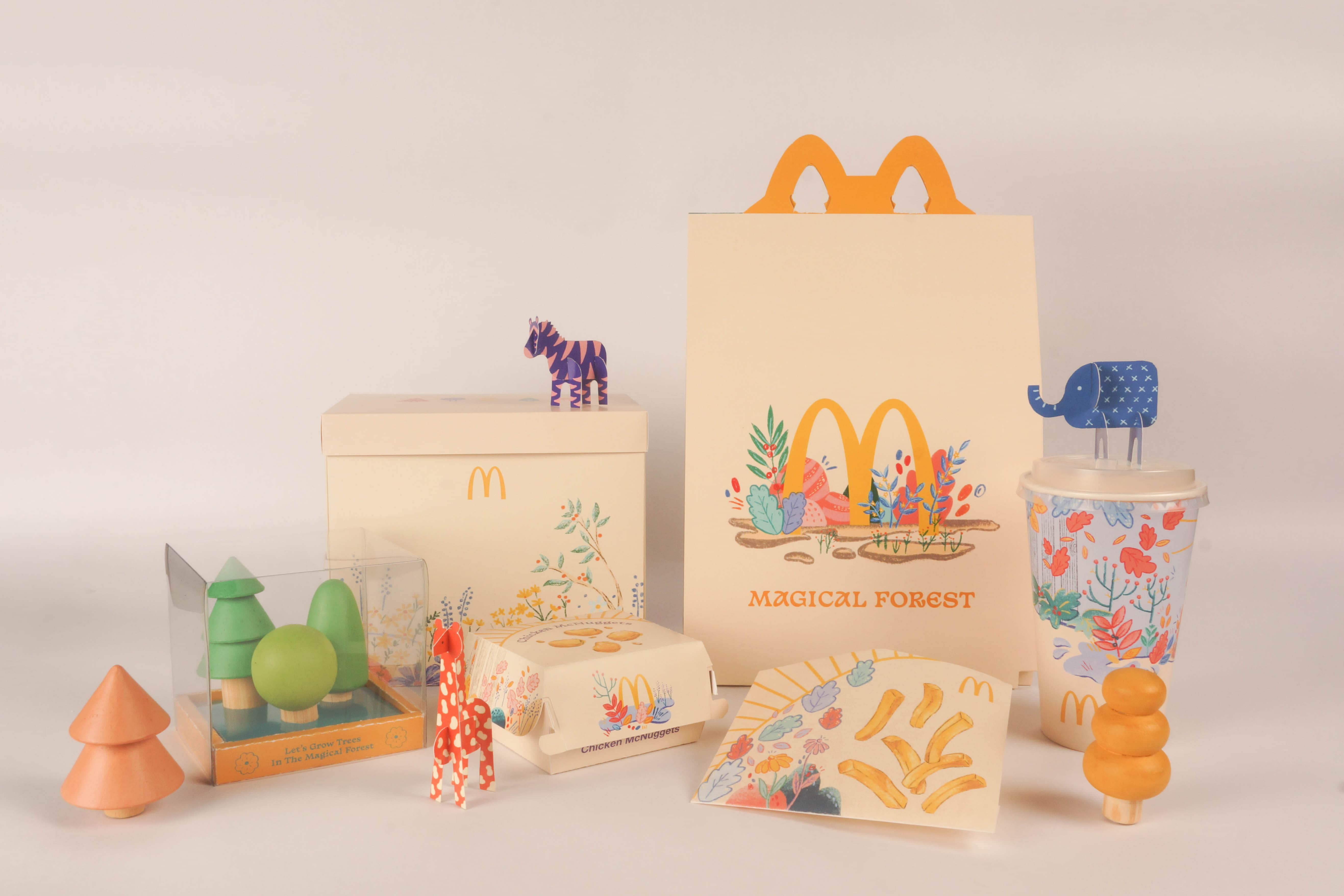 Magical Forest McDonalds Happier Meal Created by Student Regina Lim
