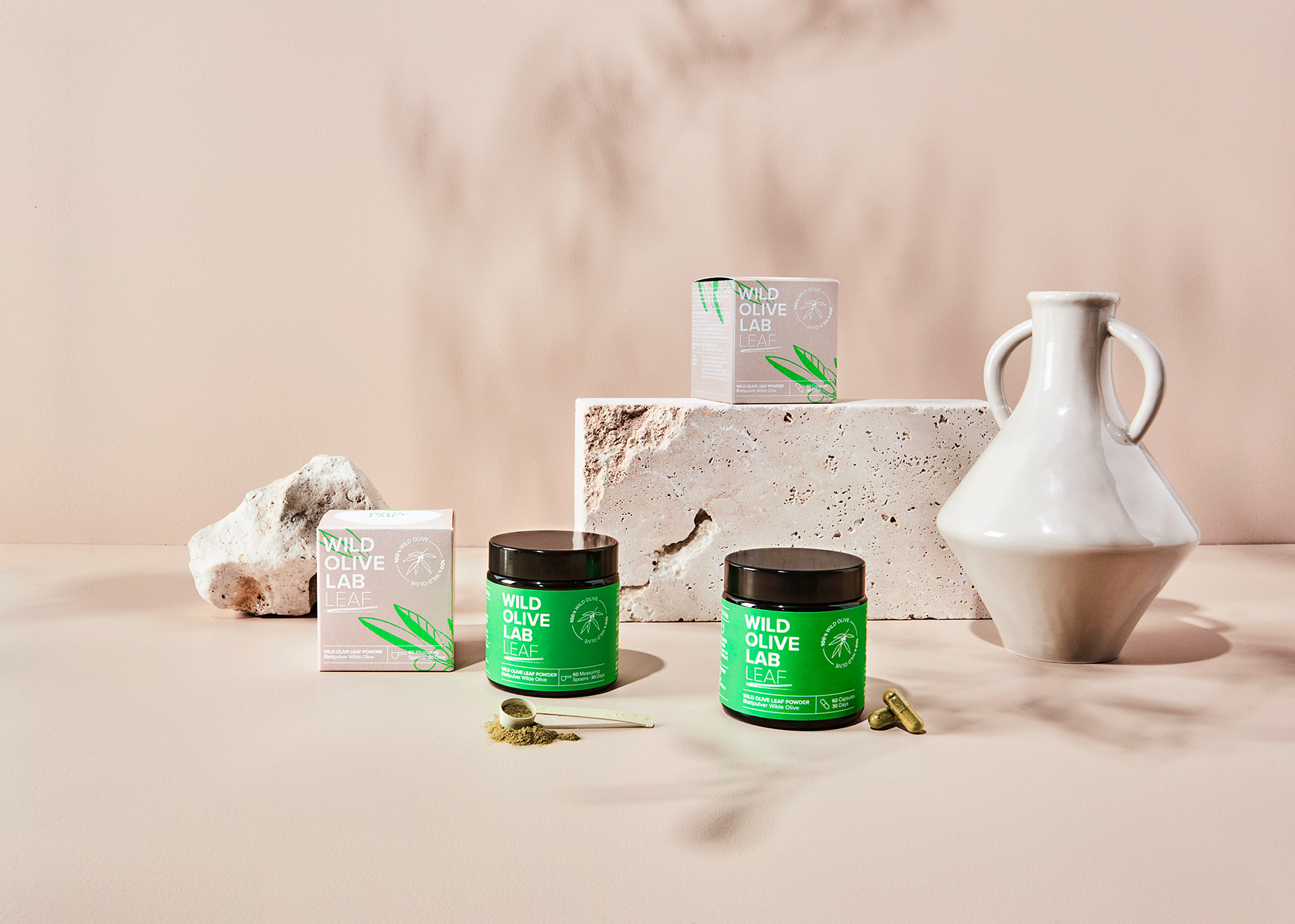Branding and Packaging for Wild Olive Lab by Design Studio B.O.B