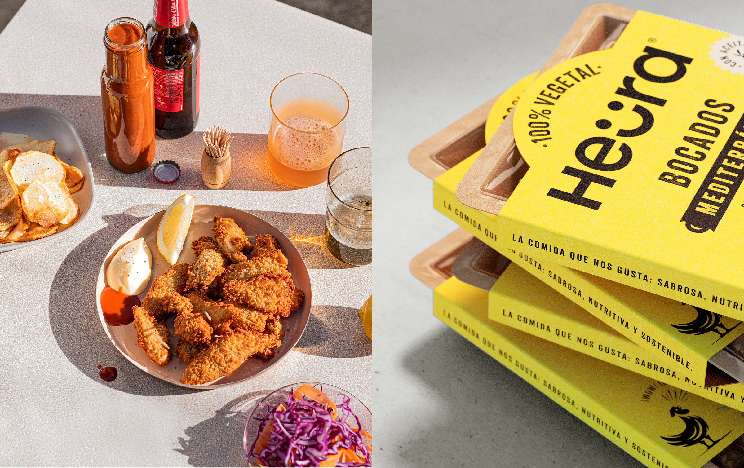 Brand Identity and Packaging Design for Barcelona Based Start-Up Food-Tech Company Heura